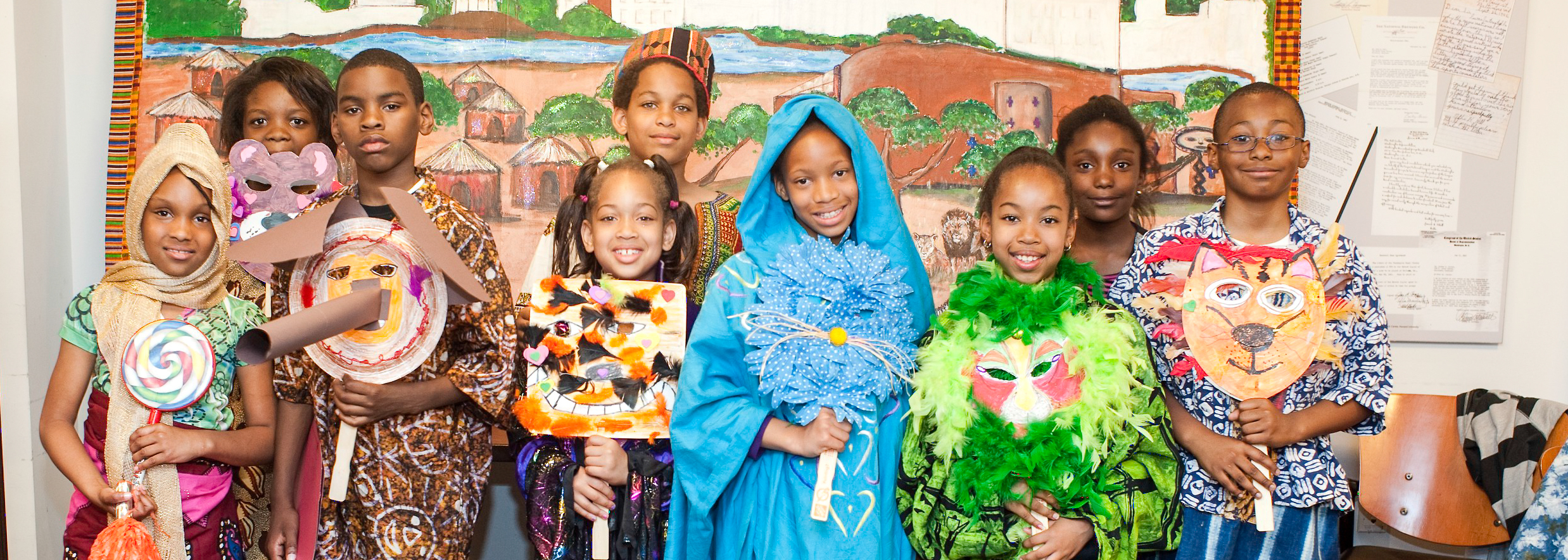 Museum Academy Program students pose for a group photograph.