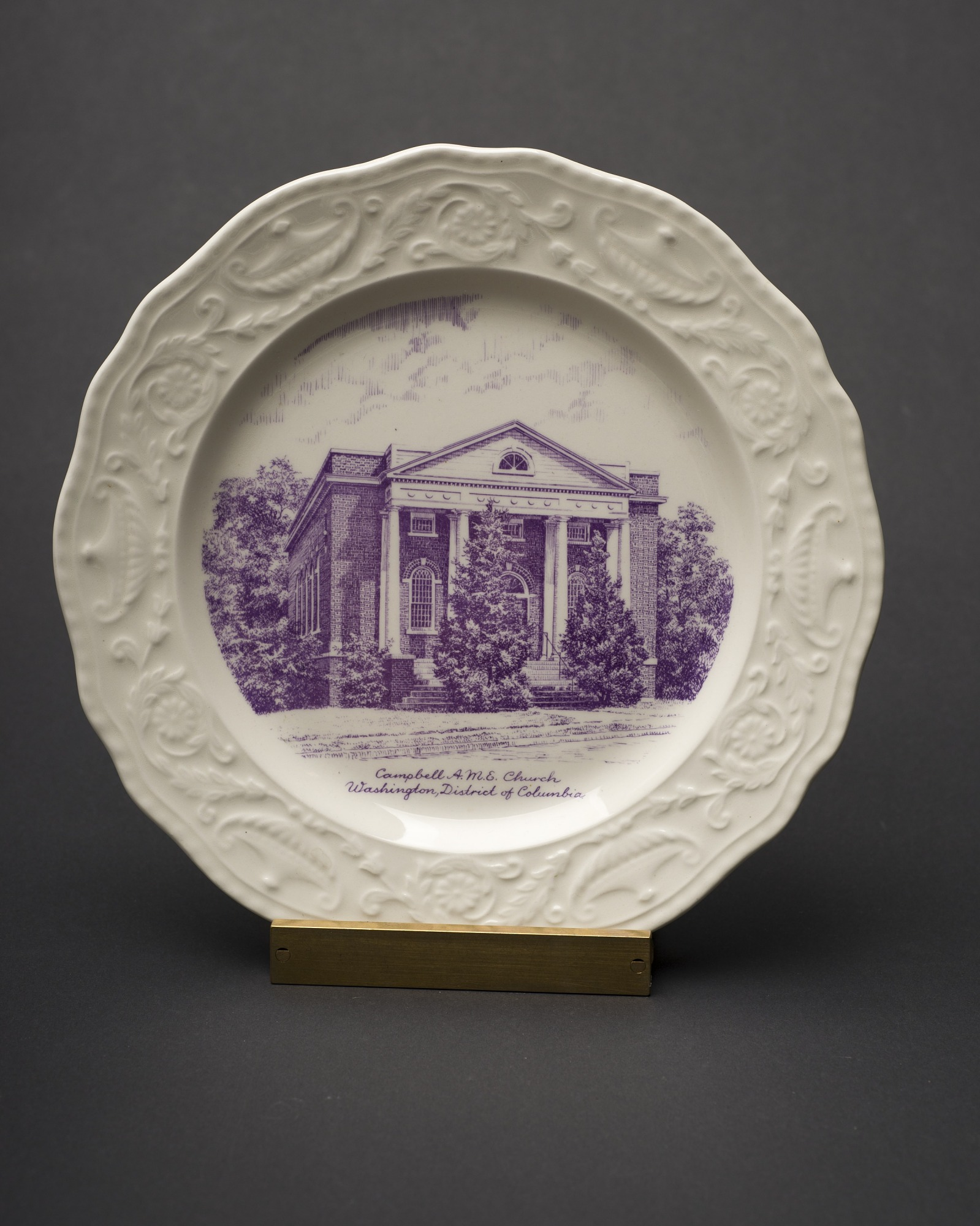 Decorative Plate of Campbell A.M.E. Church