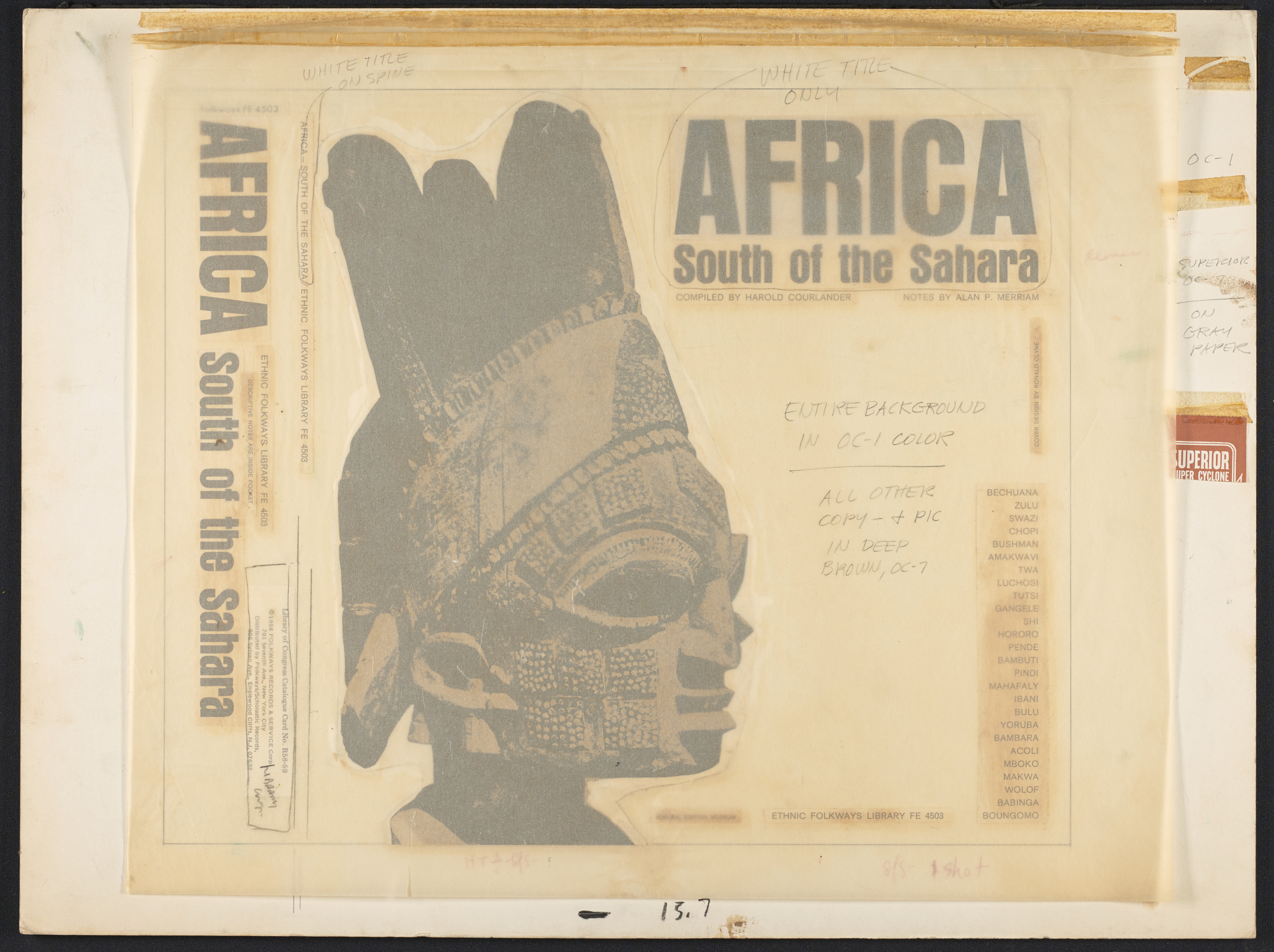 Africa south of the Sahara [sound recording] / compiled by Harold Courlander ; notes by Alan P. Merriam