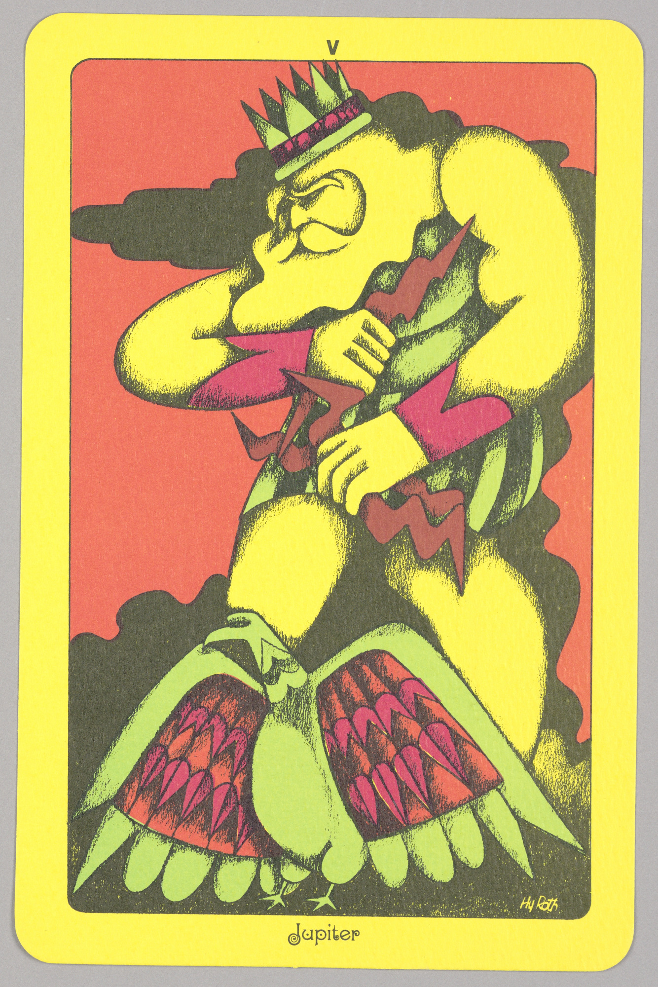 V, Jupiter from Linweave Tarot Deck