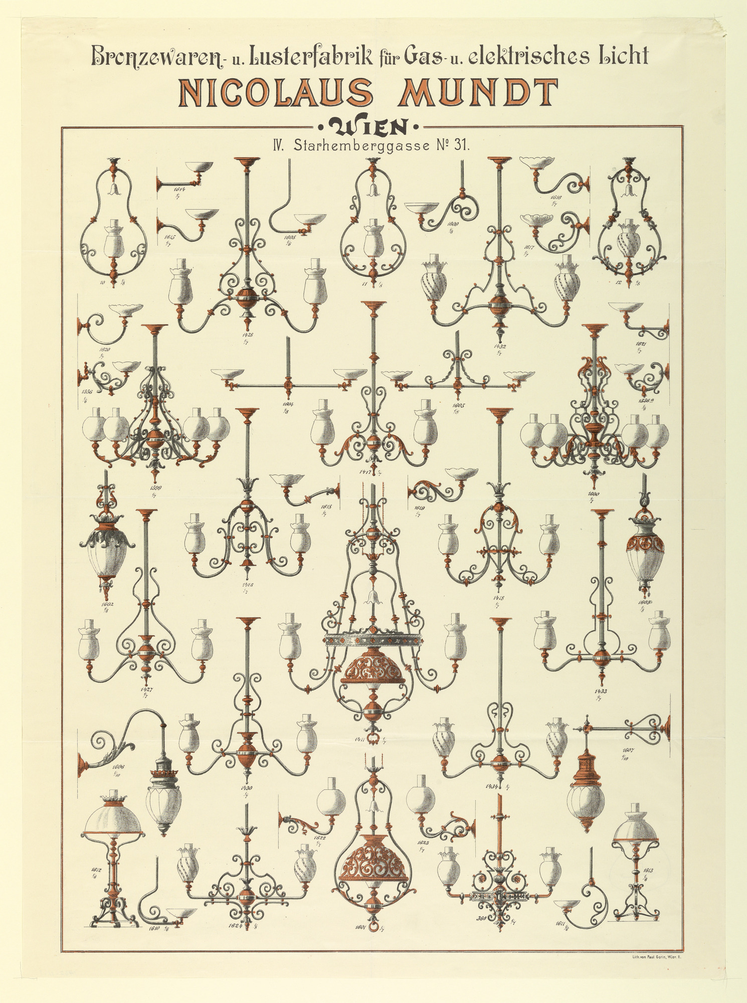 Advertisement for Gas Lighting Fixtures