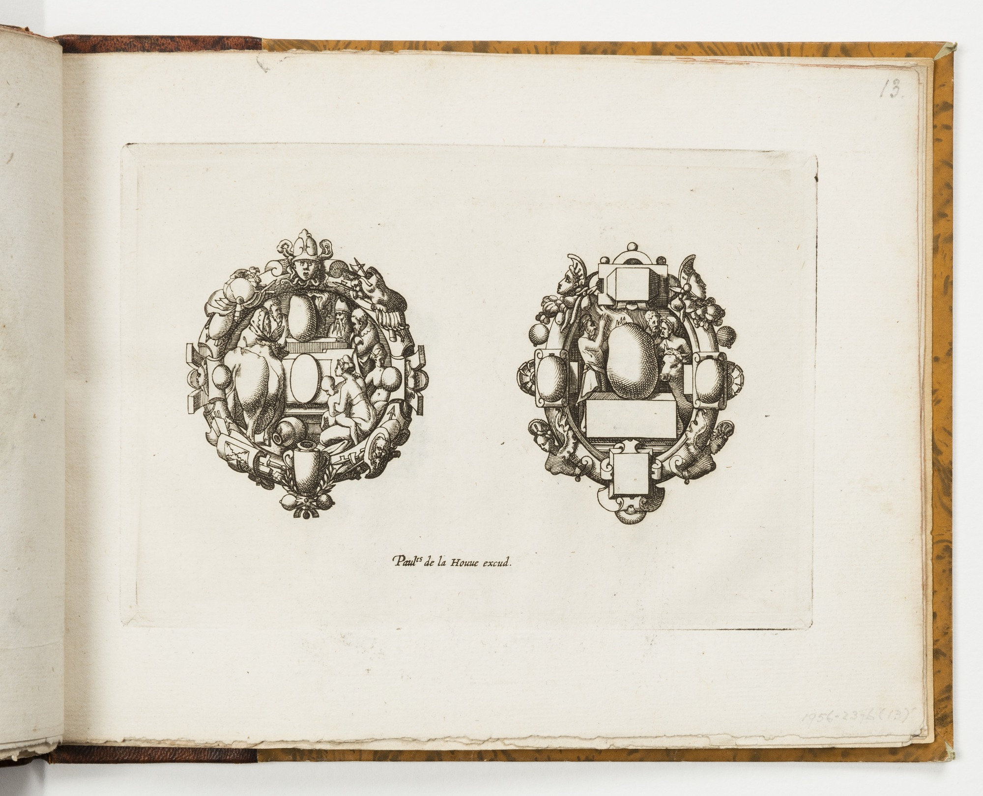 Plate 13, from Livre de bijouterie (Book of Designs for Goldsmiths and Jewelers)
