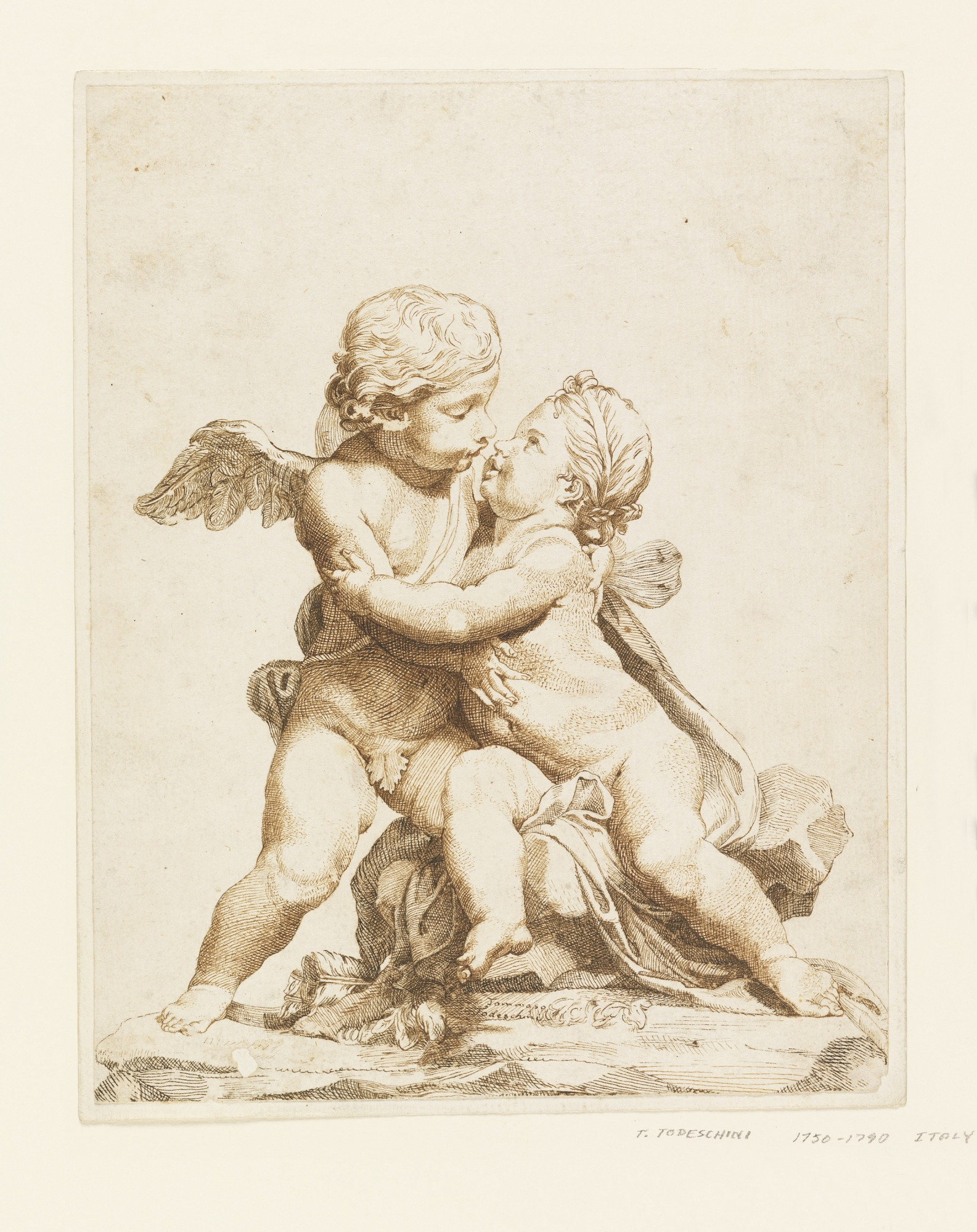 Two Cupids Kissing