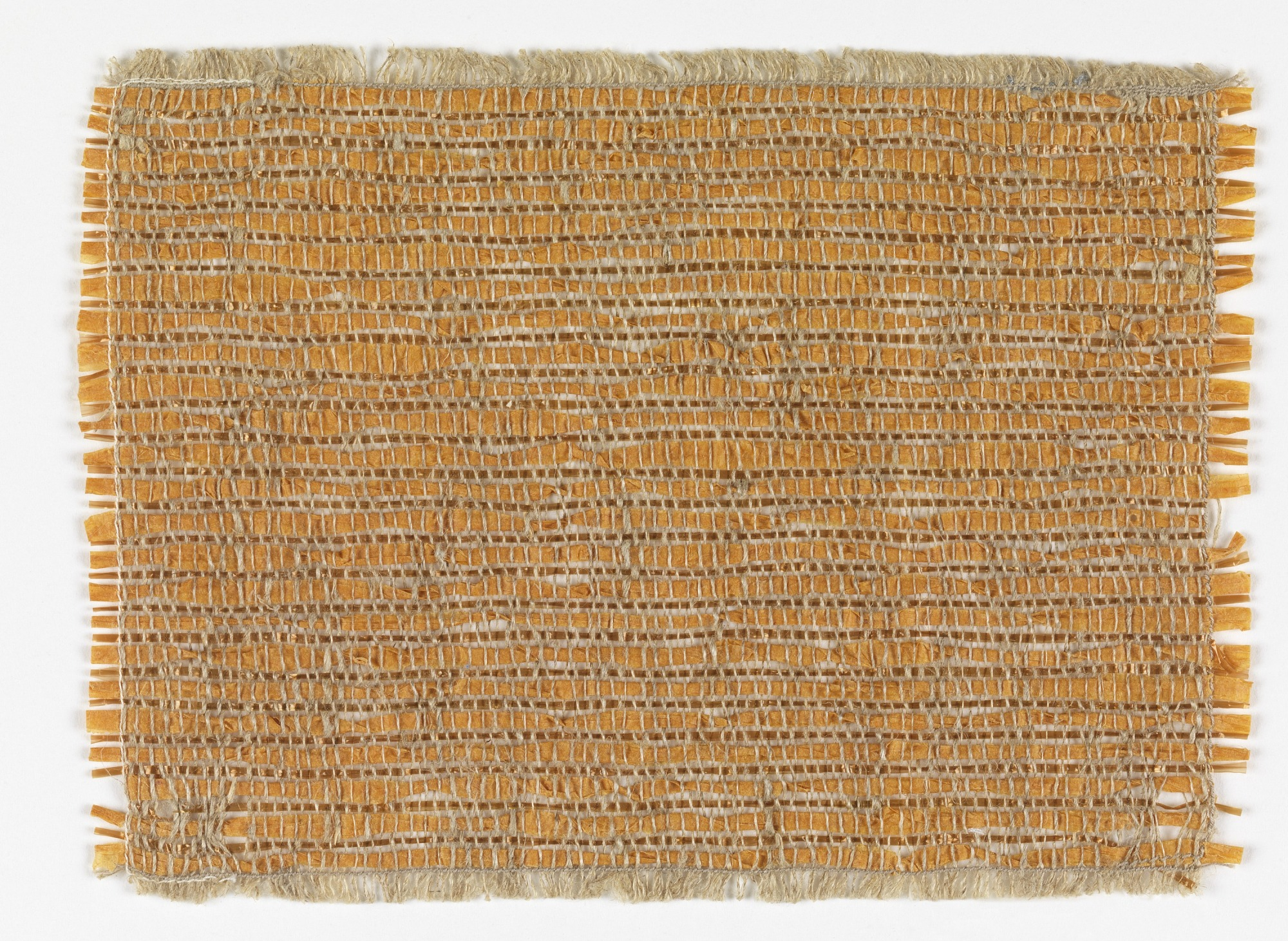 Handwoven sample for a wall covering