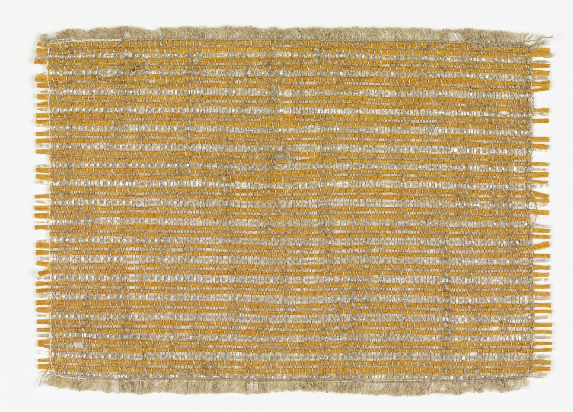 Hand woven sample for wall covering