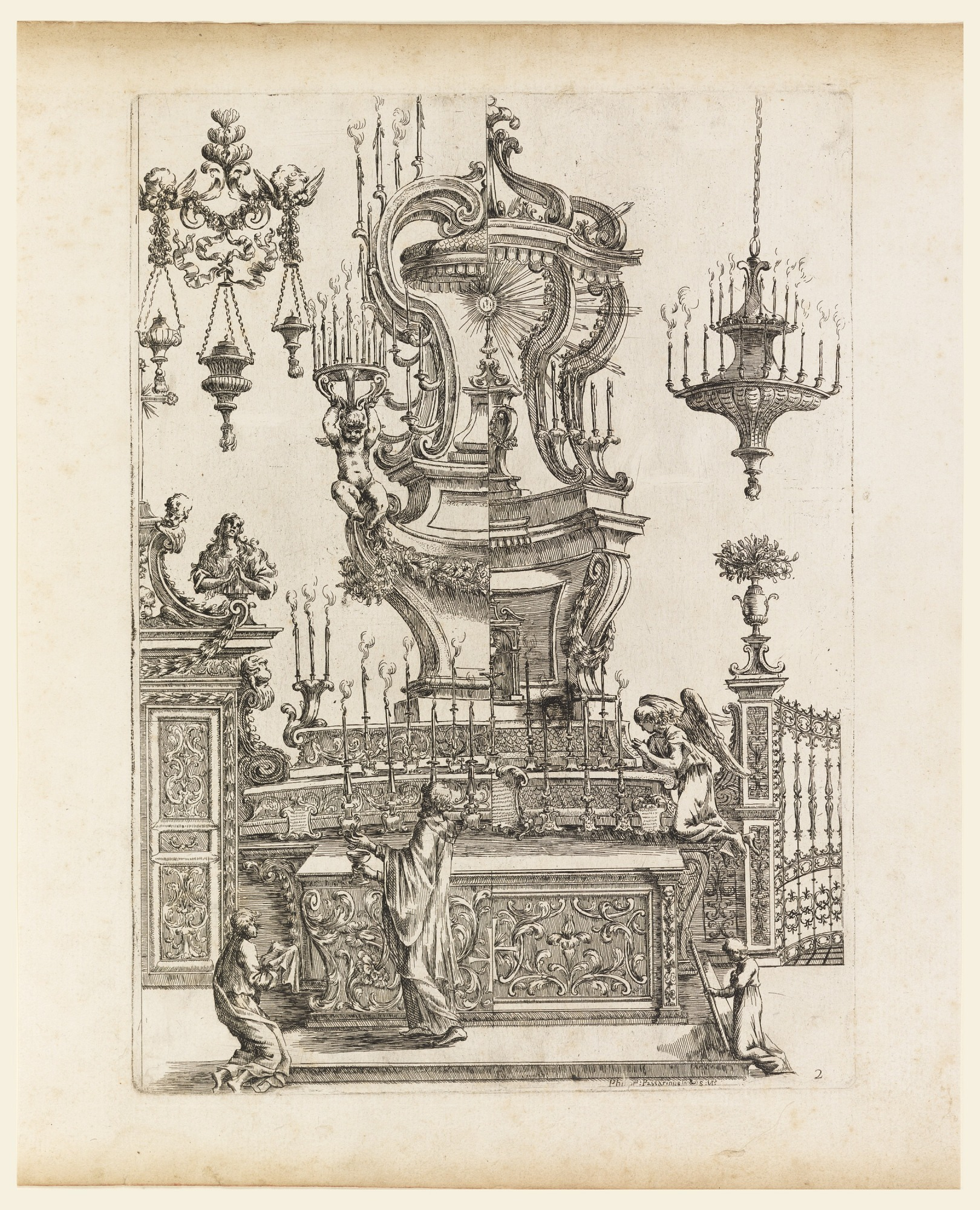 Design for an Altar, plate 2 of