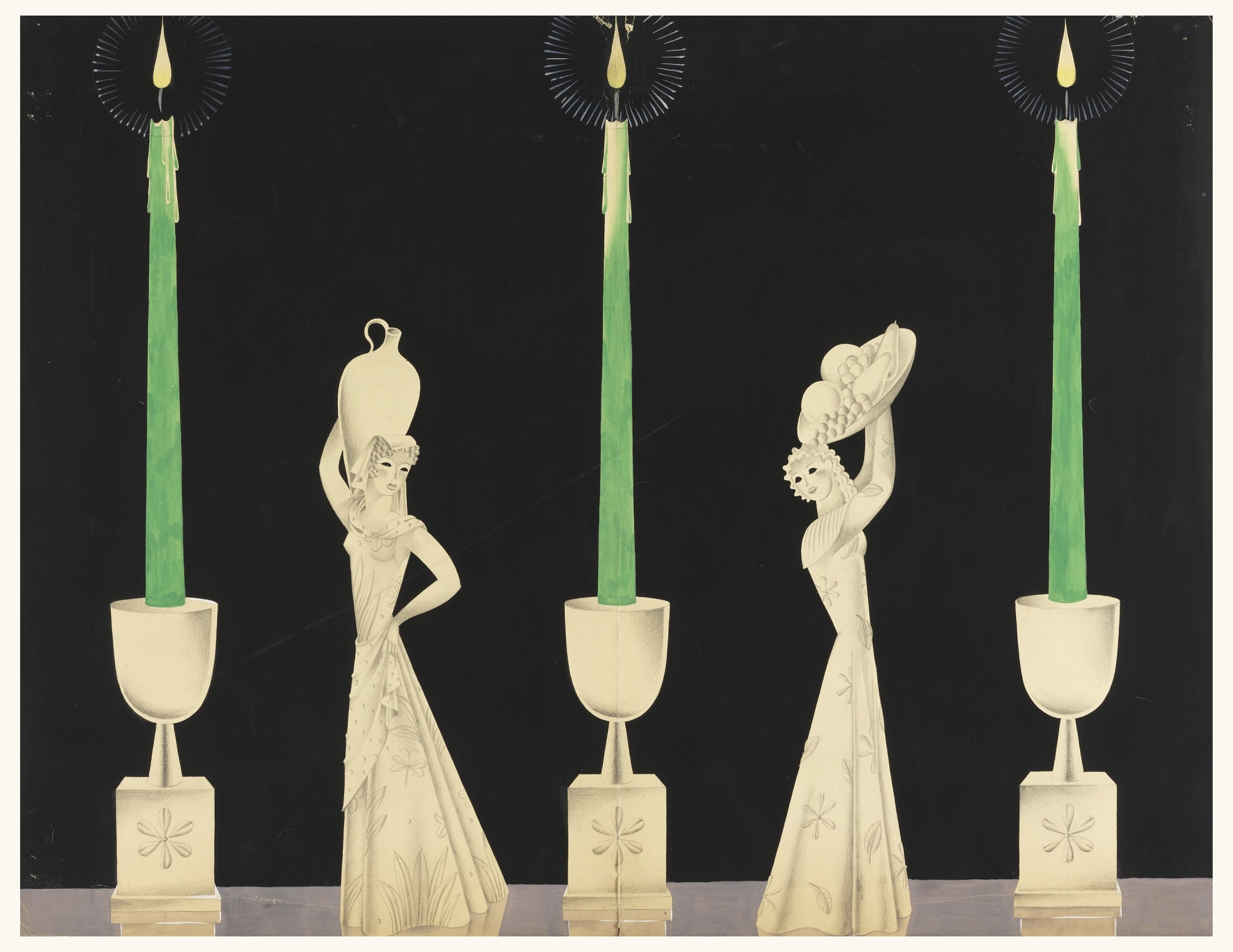 Design for Candlesticks with Figurines
