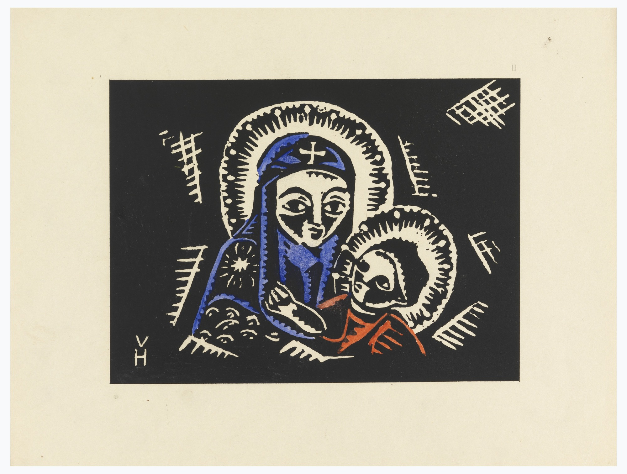 Madonna s Brozskym Detatkem, Madonna and Child, Plate II,