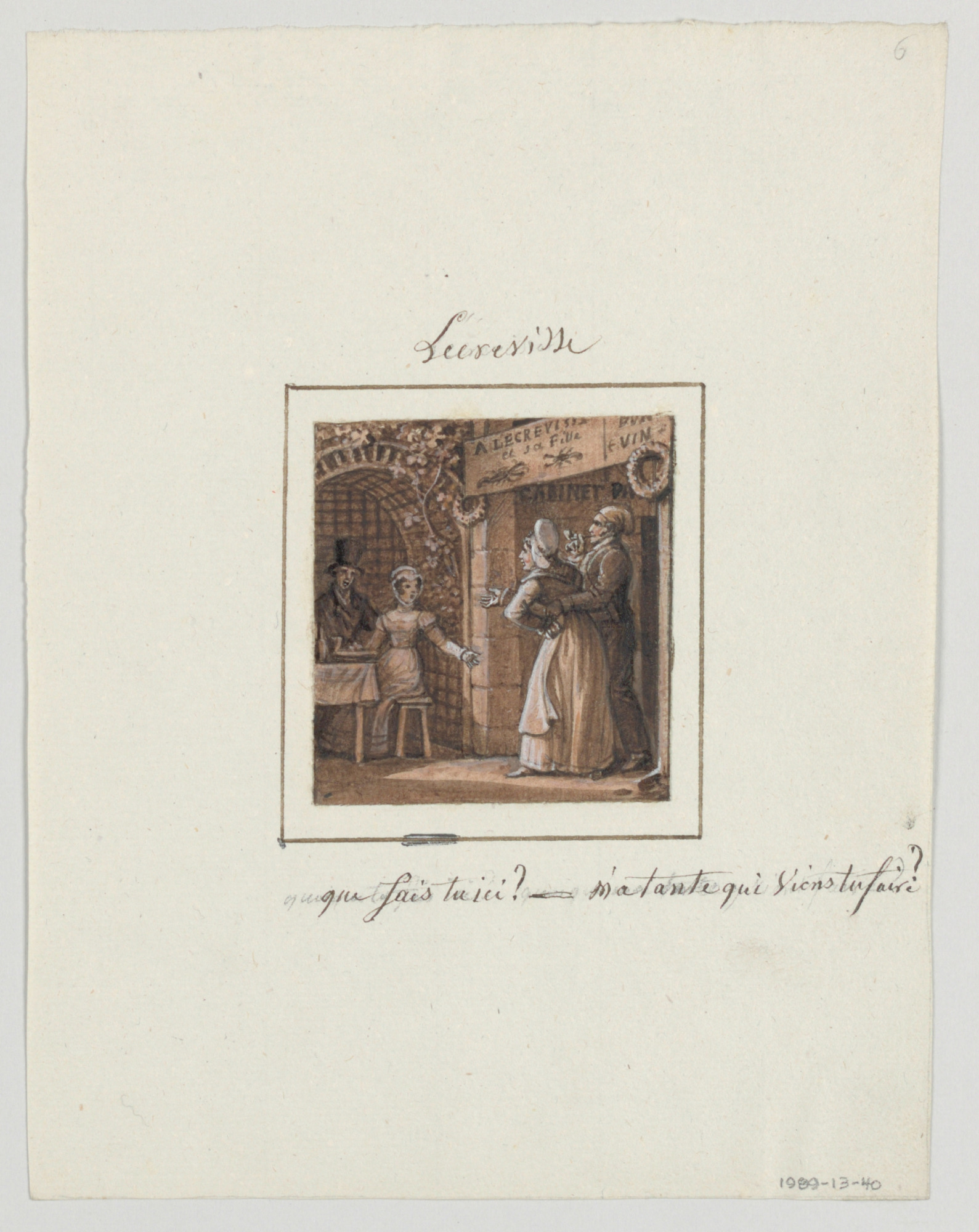 Design for a Painted Porcelain Plate, L'Écrevisse (Cancer) from the Le Zodiaque Travesti (The Farcical Zodiac) Service