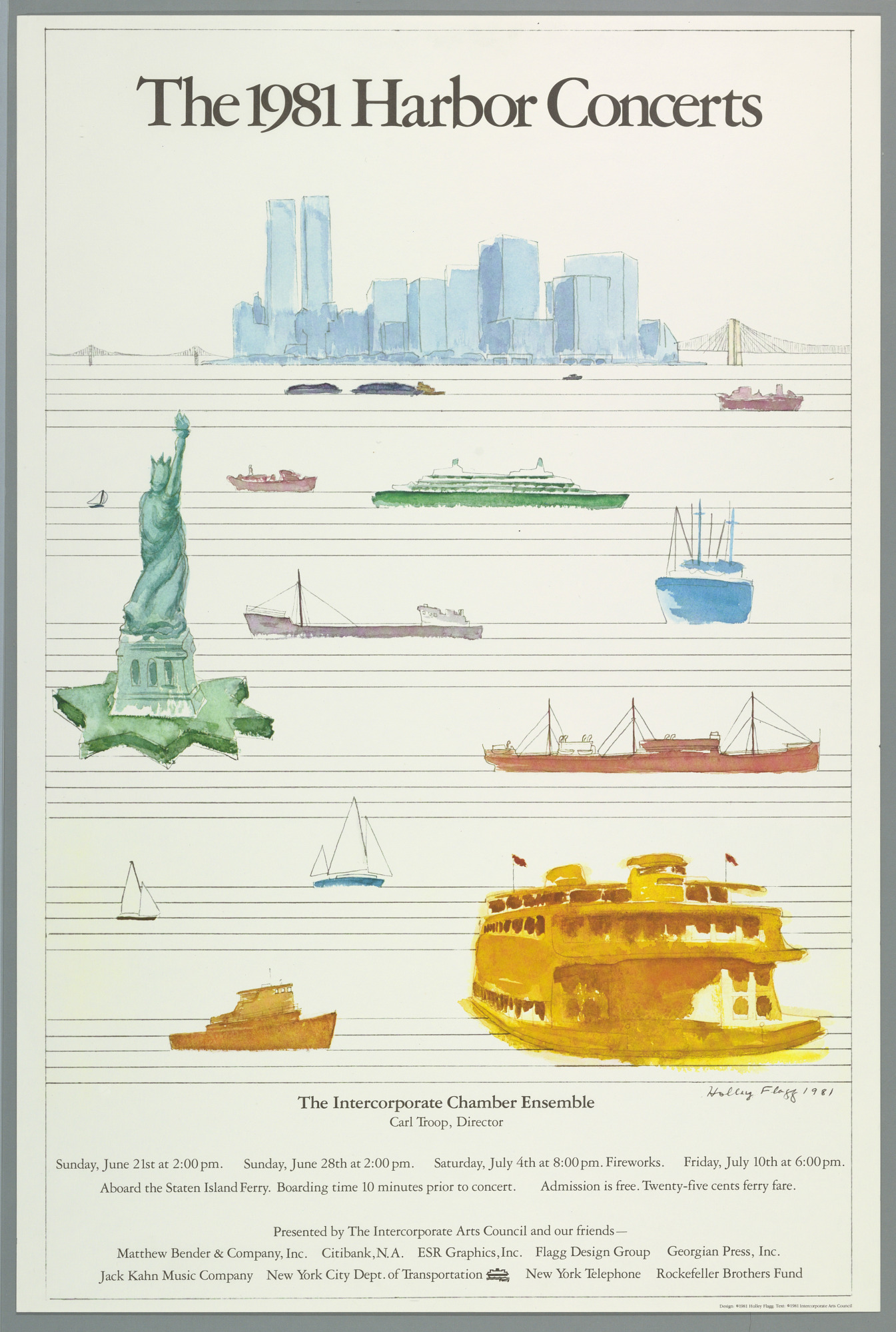 The 1981 Harbor Concerts