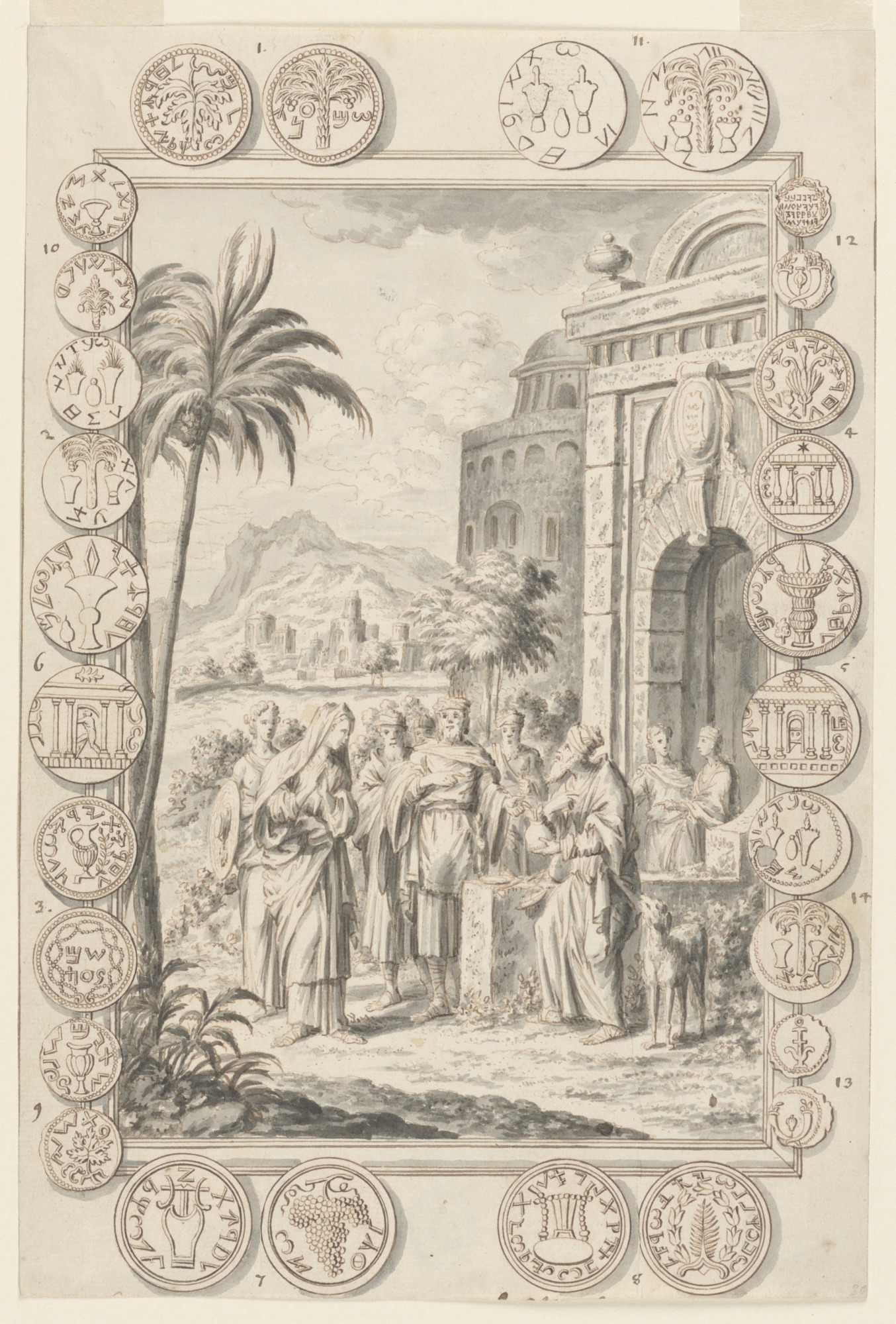 Study for Abimelech Reproveth Sarah, Plate 81, Physica Sacra