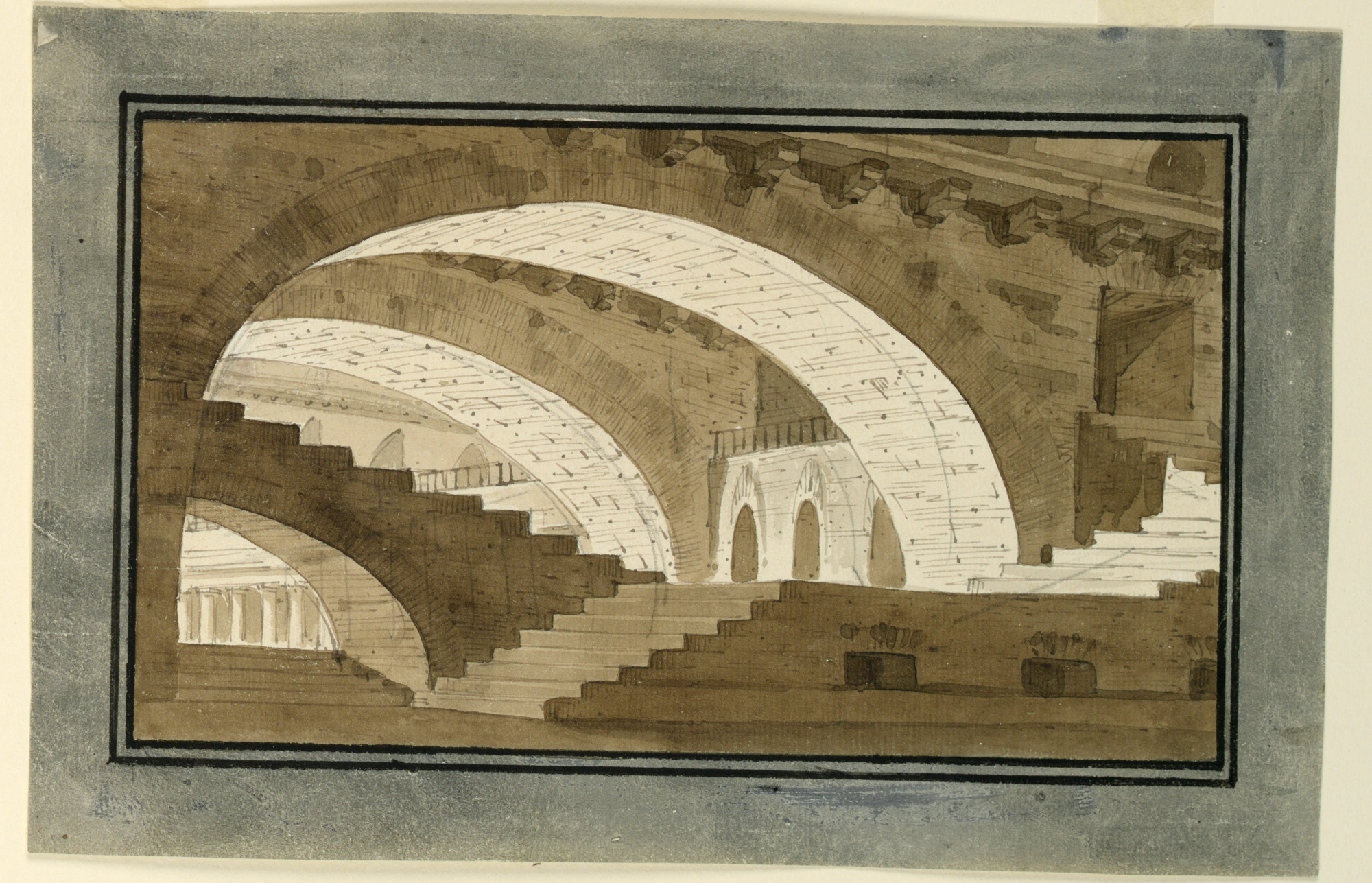 Stage Design, Interior of Basement of Palace