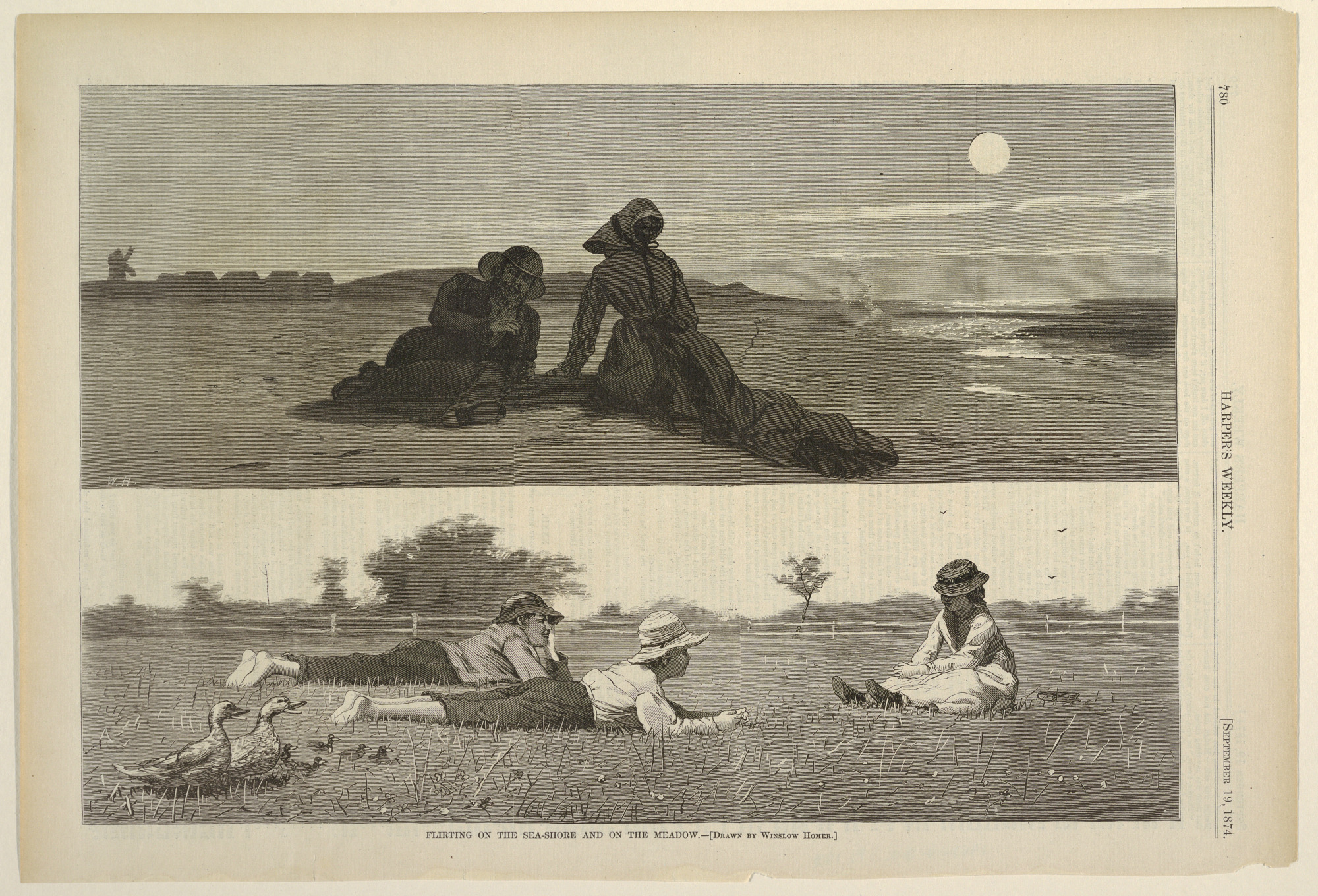 Flirting on the Sea-Shore and on the Meadow