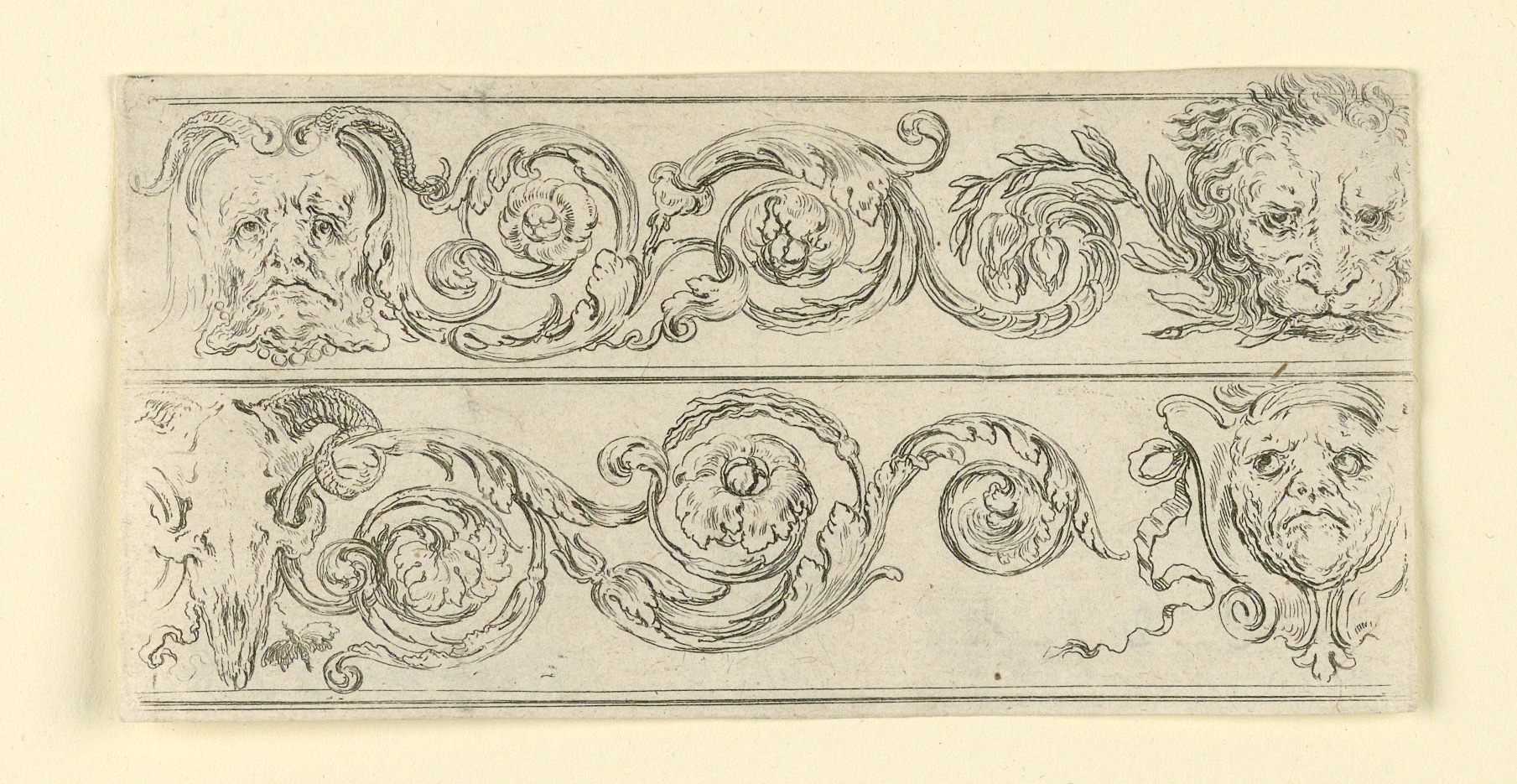 Plate from Frises, Feuillages et Grotesques (Friezes, Foliage and Grotesques)
