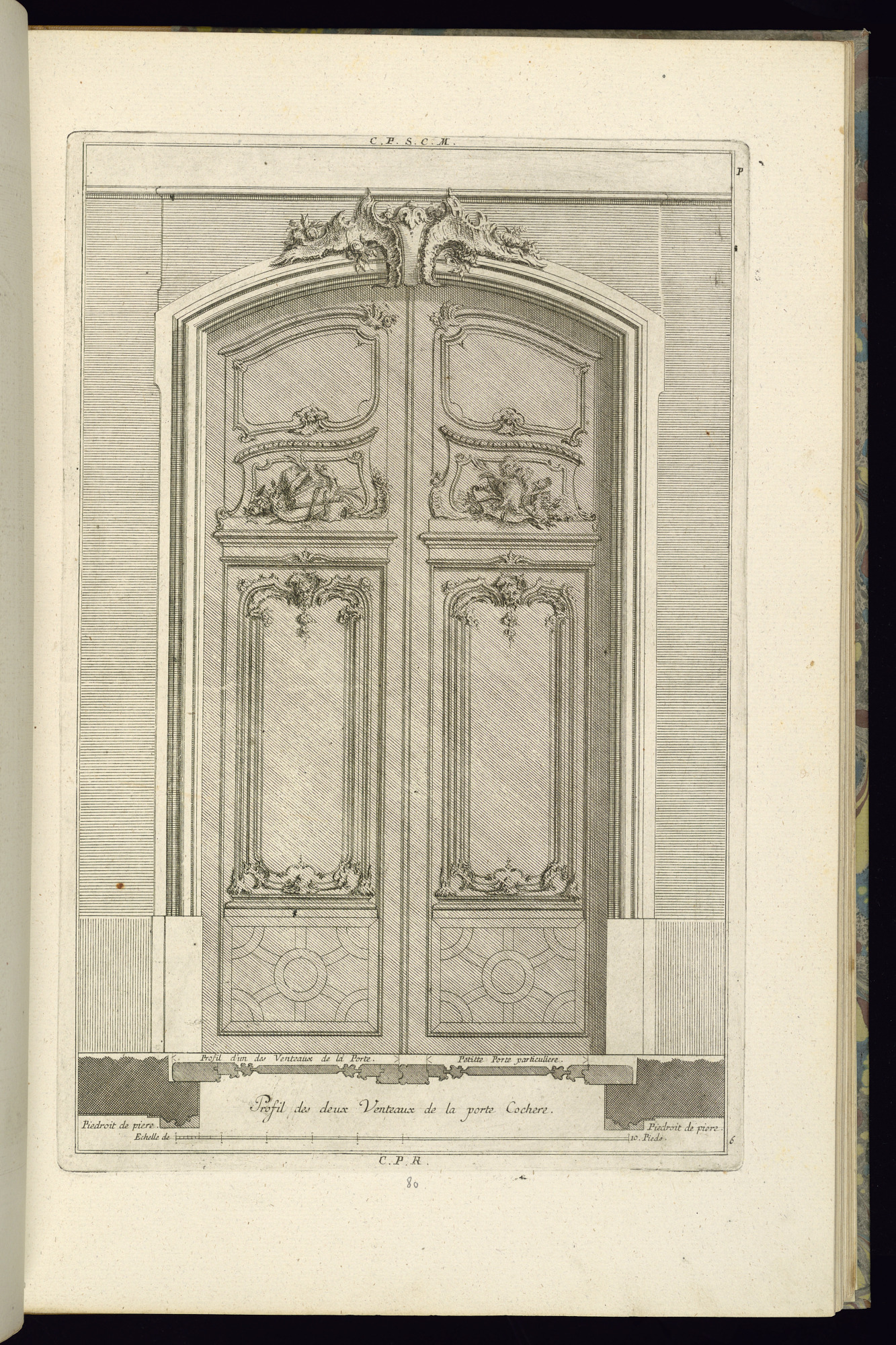 Elevation and Plan of a Portal