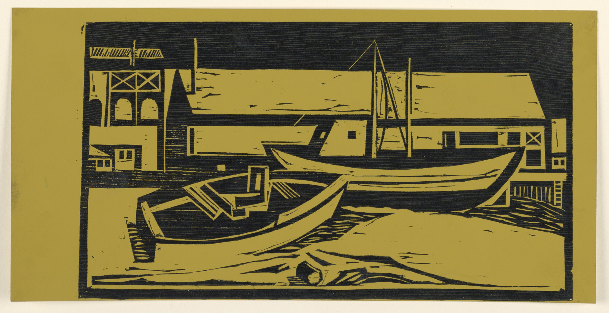 Woodcut: Provincetown, Summer 1950