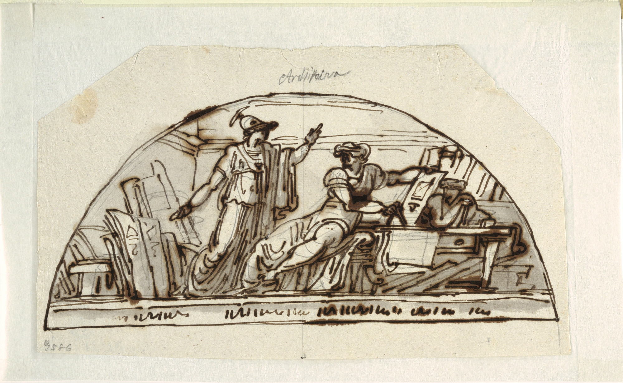 Lunette with Allegory of Architecture