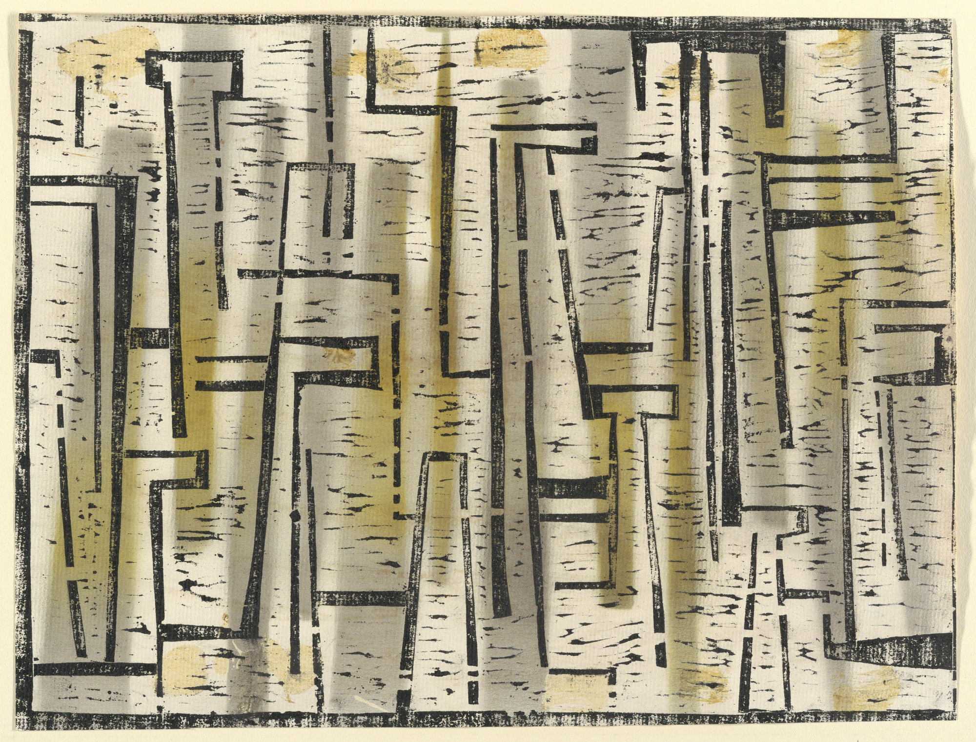 Woodcut. Abstraction