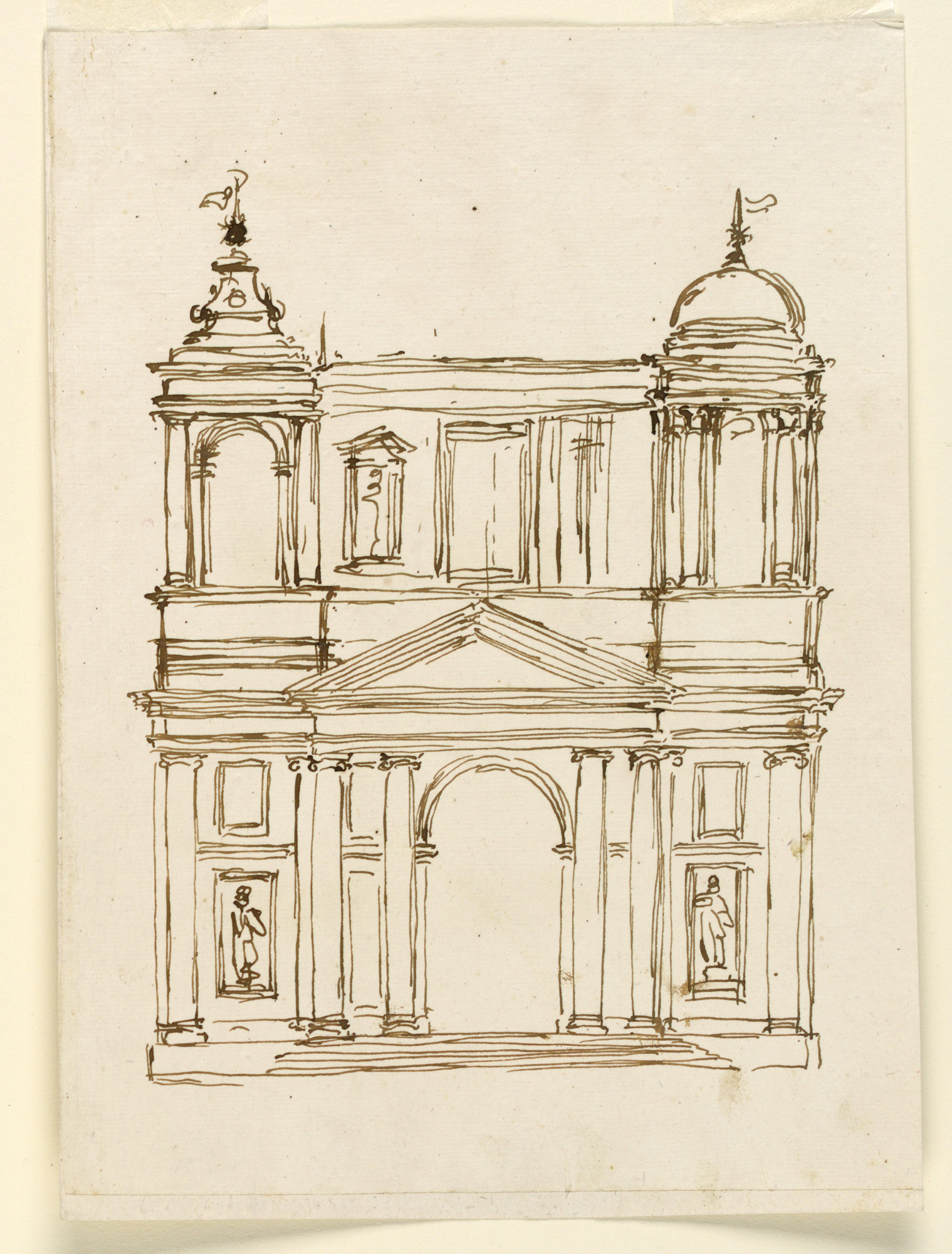 Elevation of a church