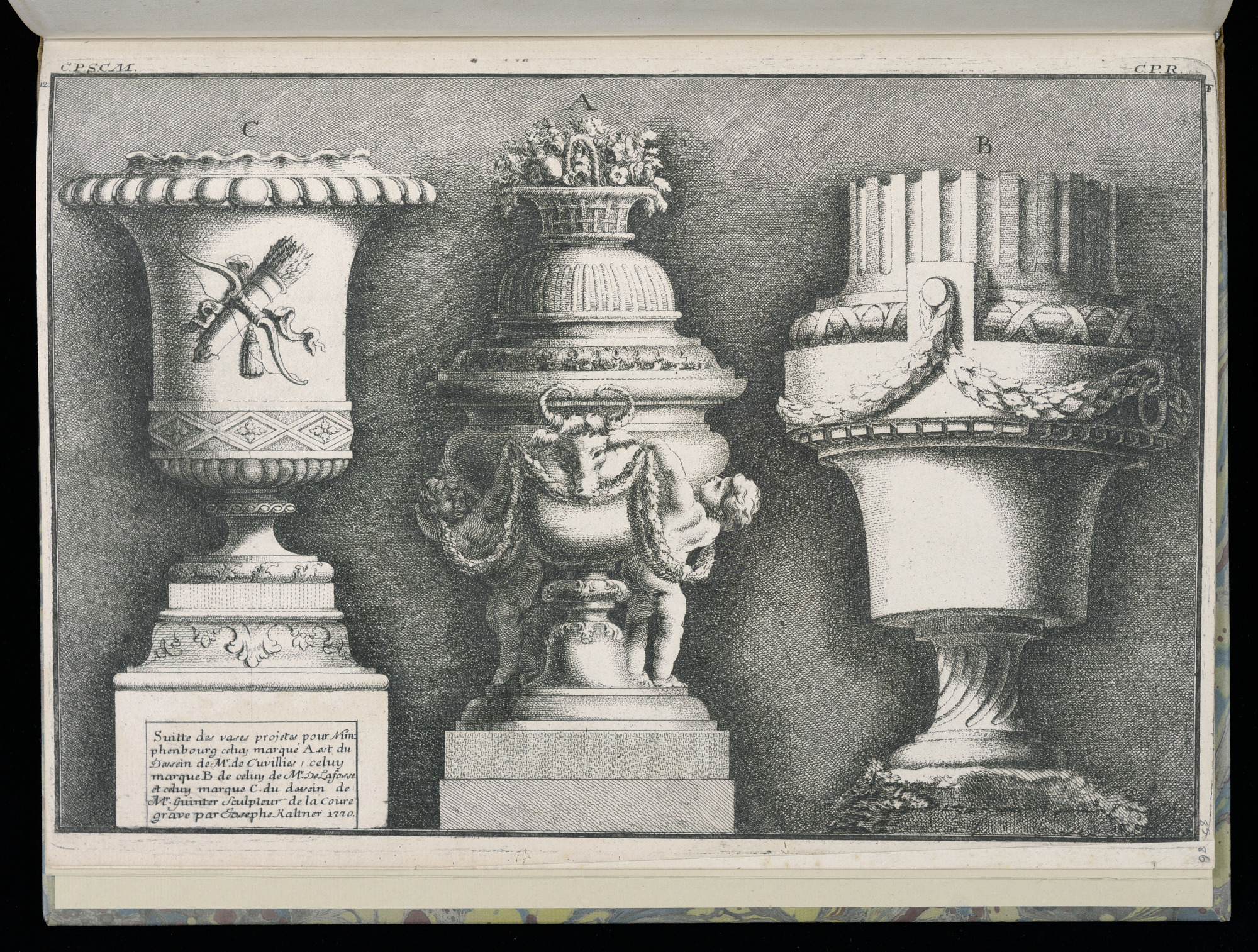 Three Vases, Suitte de vases projetes pour Nimphenbourg (Set of Vases Designed for Nymphenburg)
