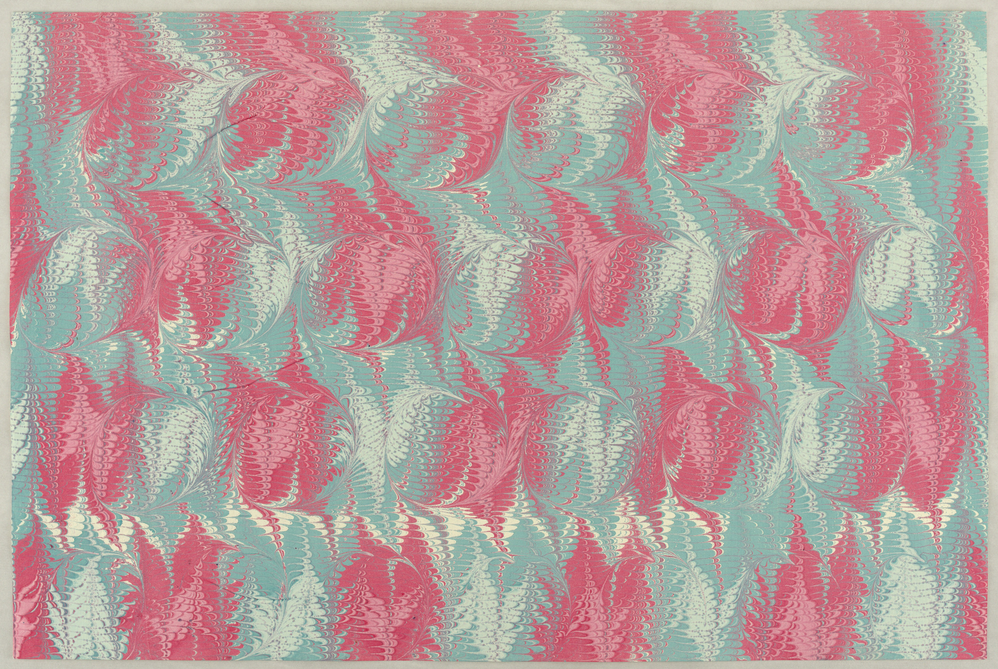 Book paper: Combed marbled paper
