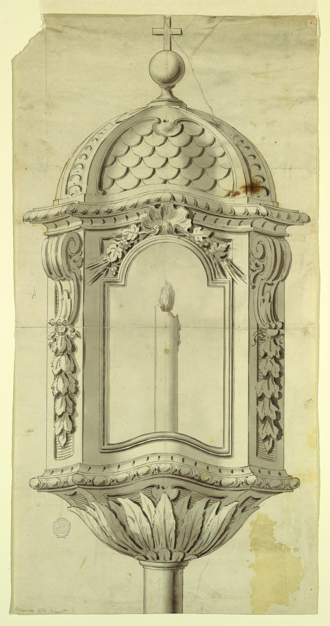 Elevation of a Processional Lantern