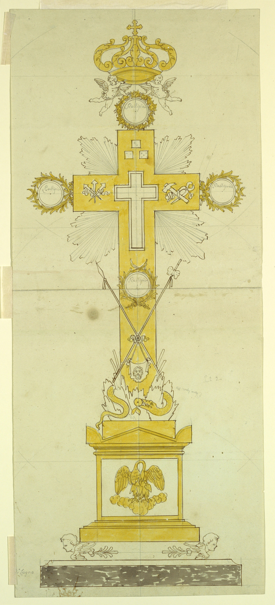 Elevation of a Reliquary Cross