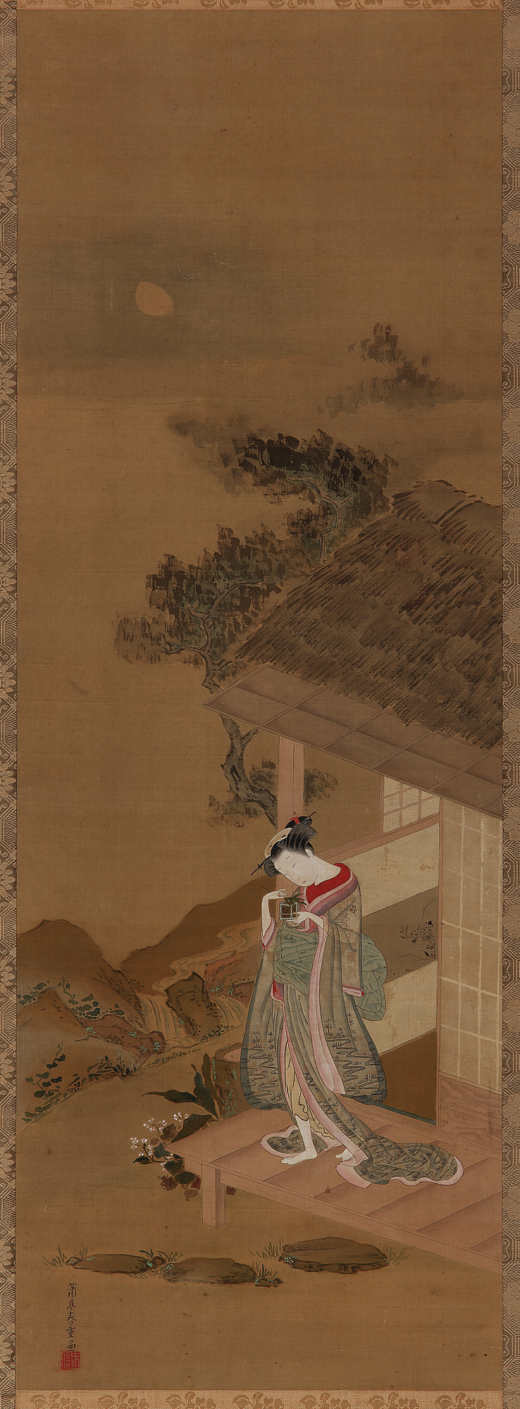 A Young Woman with a Cage of Fireflies