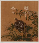 Quail and flowers