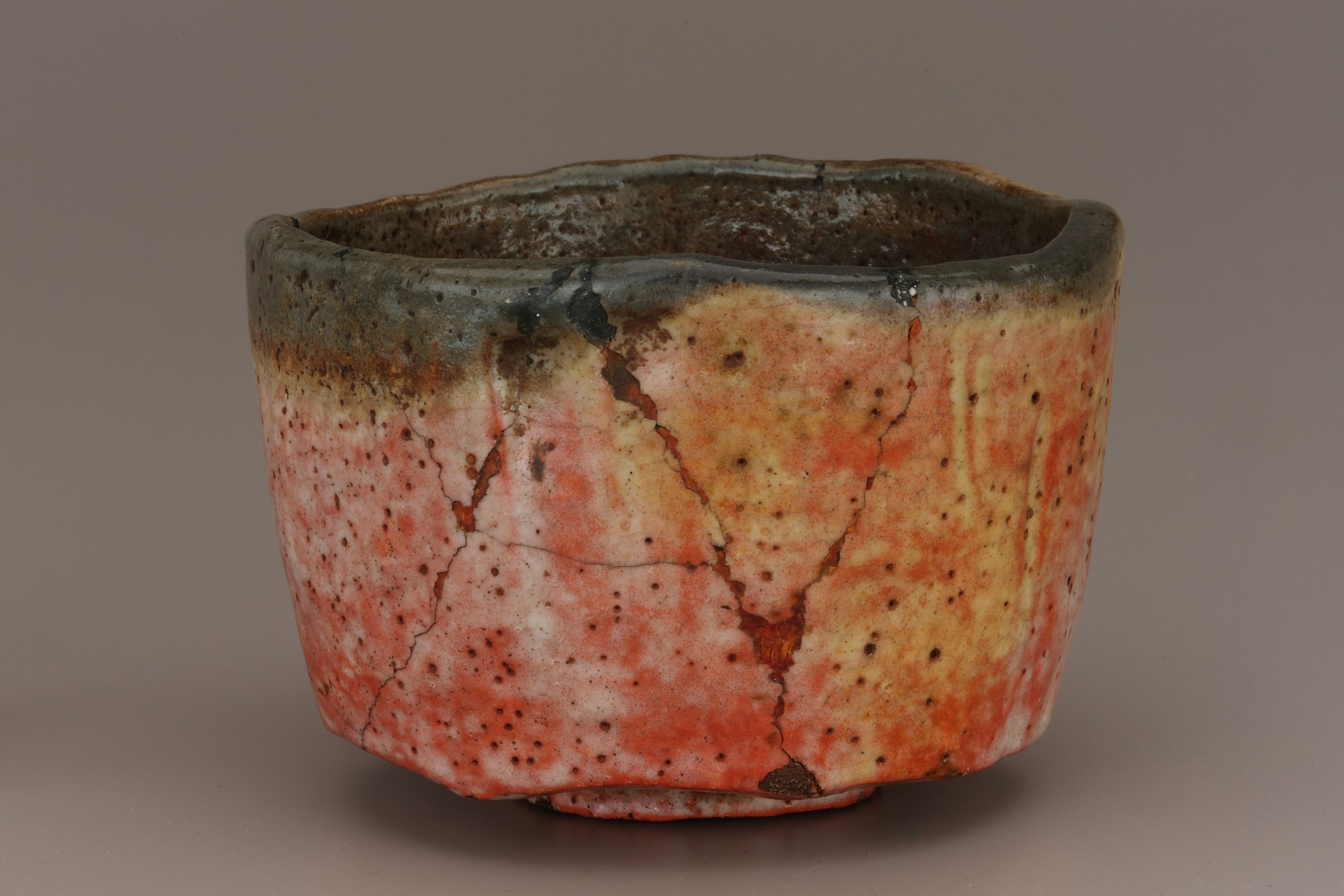 "Tea bowl, copy of ""Kaga Koetsu,"" unknown Raku ware workshop"