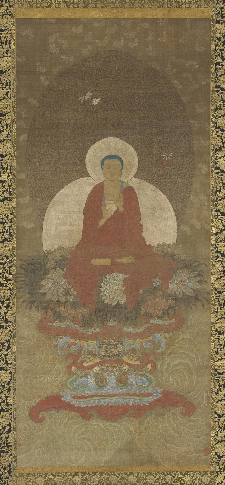 : Buddha Enthroned on a Mat of Kusa Grass