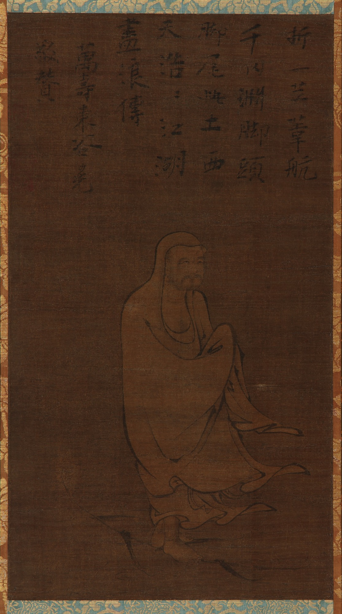 Bodhidharma Crossing the Yangzi on a Reed