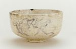 Tea bowl with design of bird on plum branch