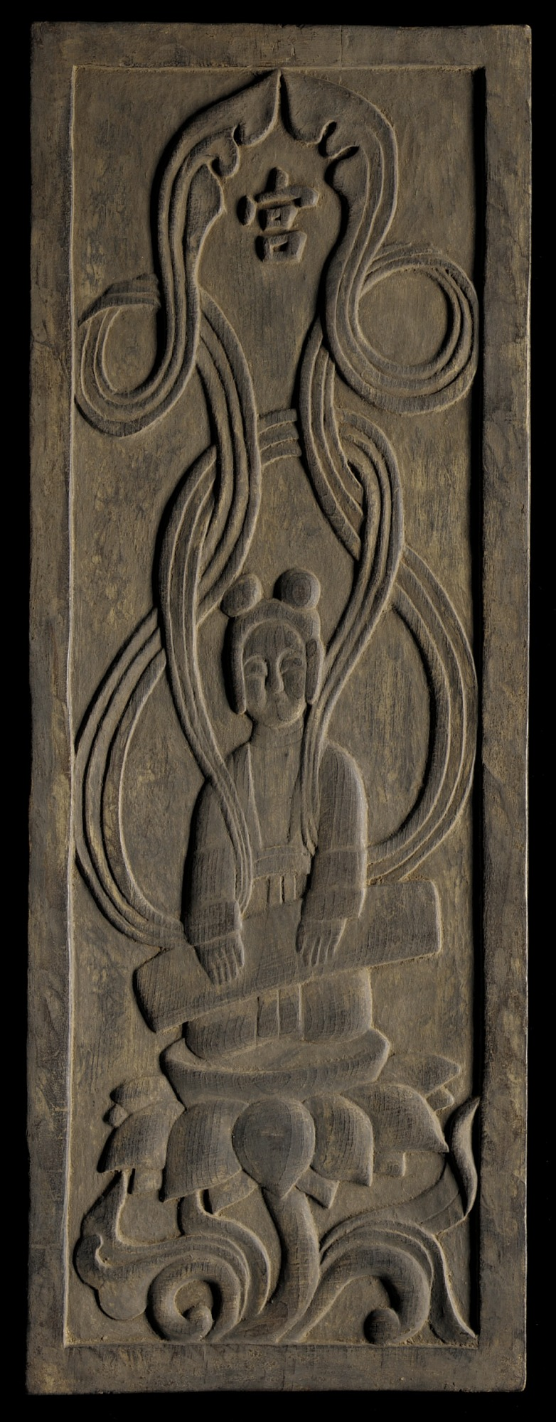 Buddhist apsara playing a zither