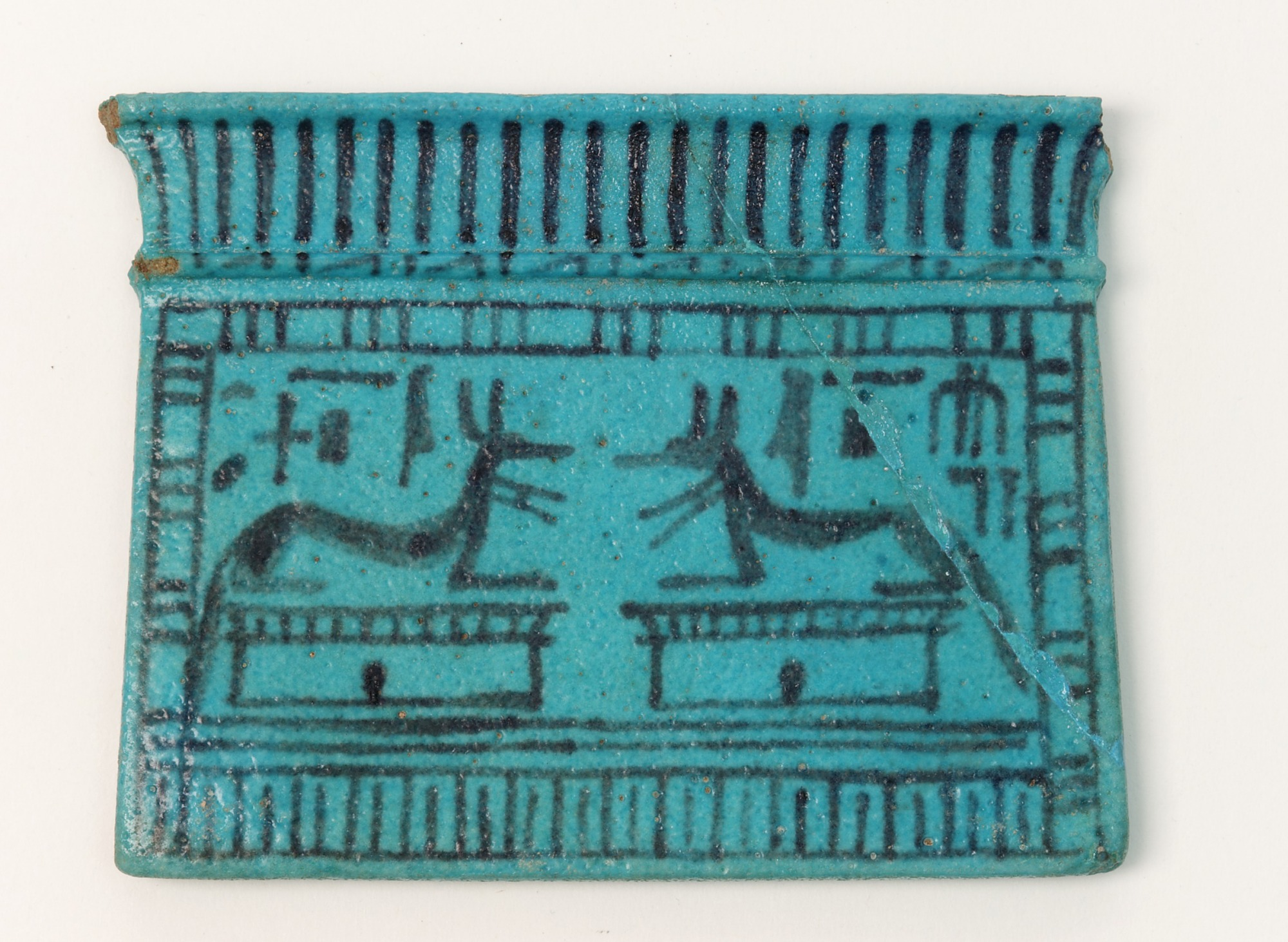 : Pectoral amulet depicting the god Anubis