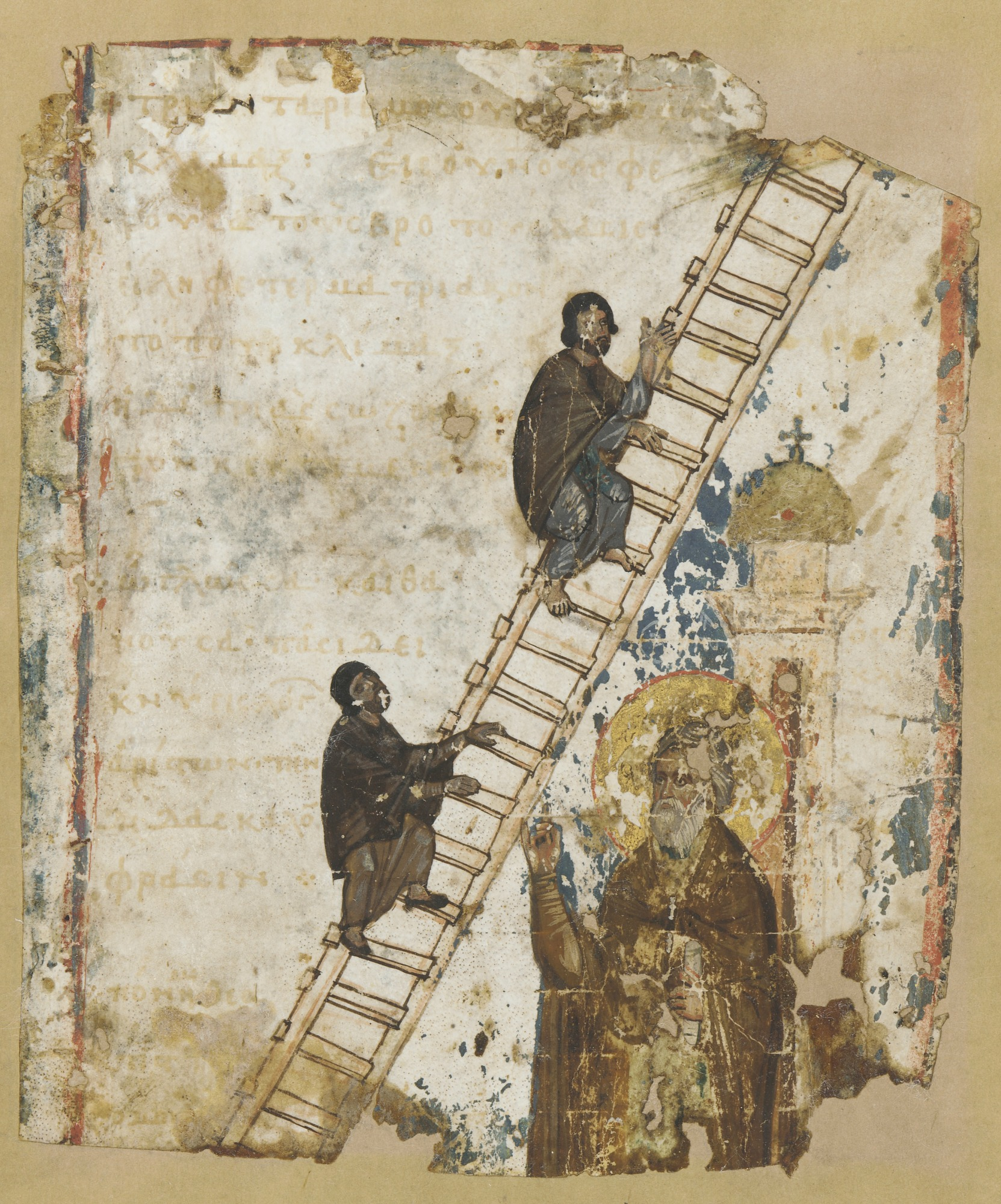 : The Heavenly Ladder: illustration from a Klimax manuscript