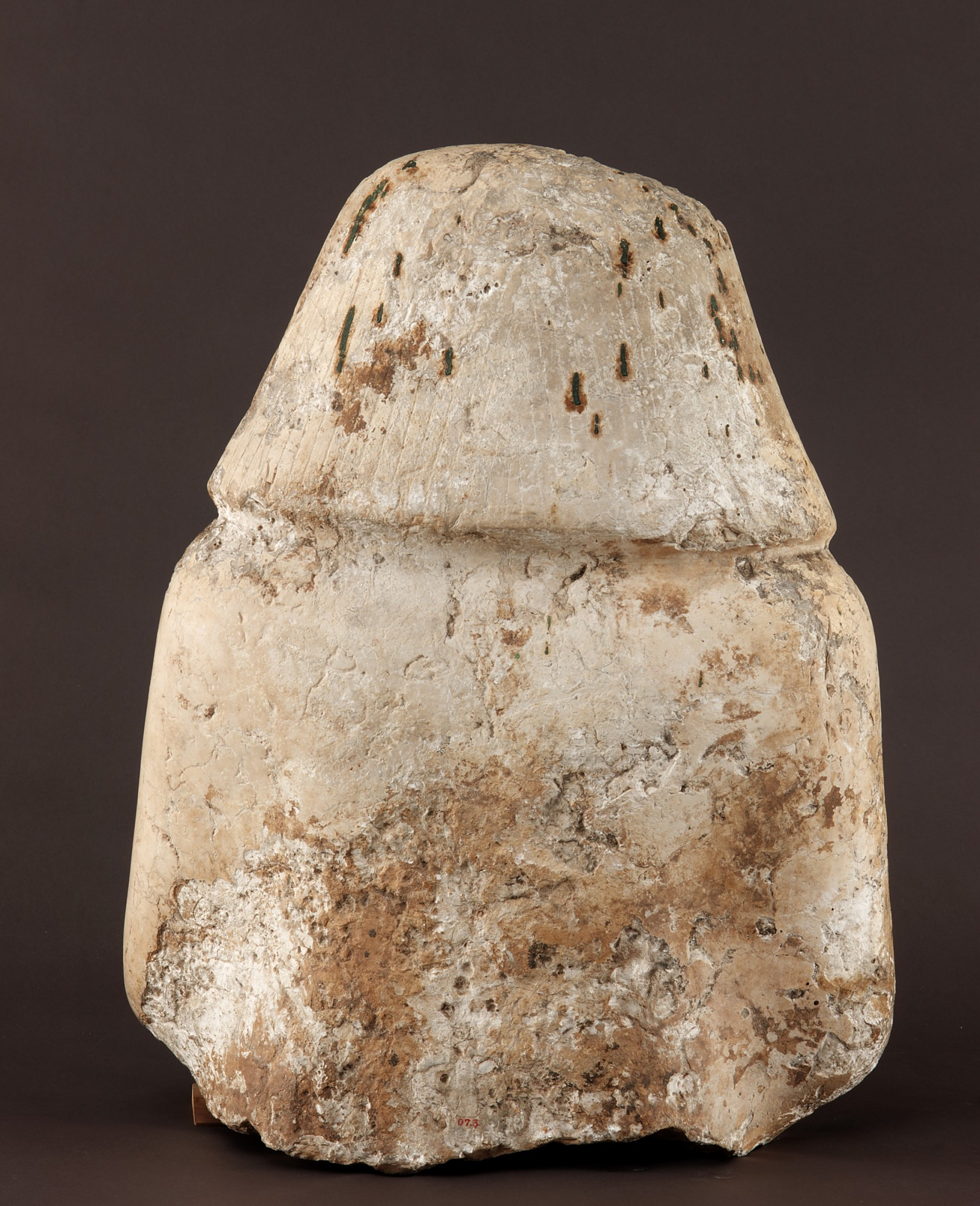 back: Head and Bust (fragment) of a man
