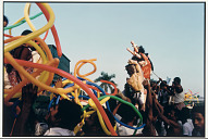 Balloon Sellers and Durga Images, 1987