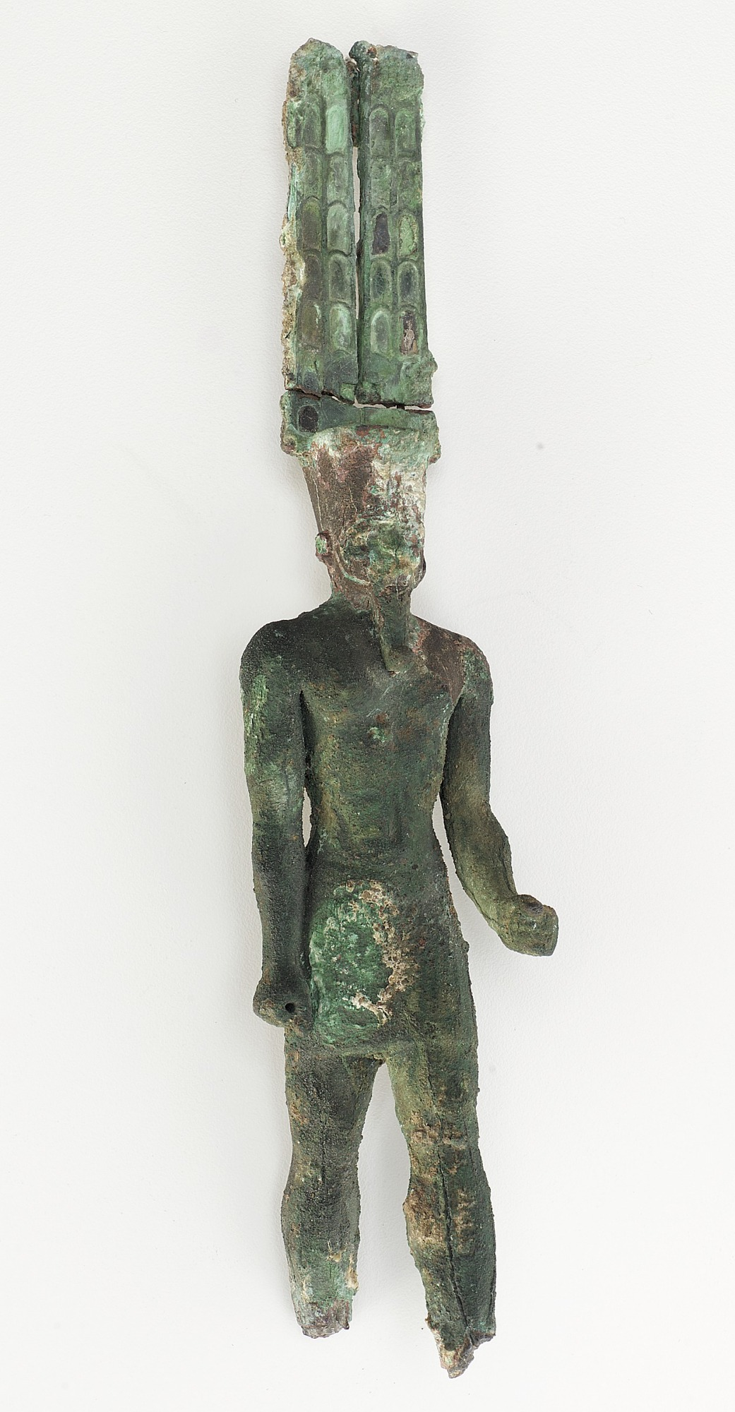figure, front: Statuette of Amun-Re
