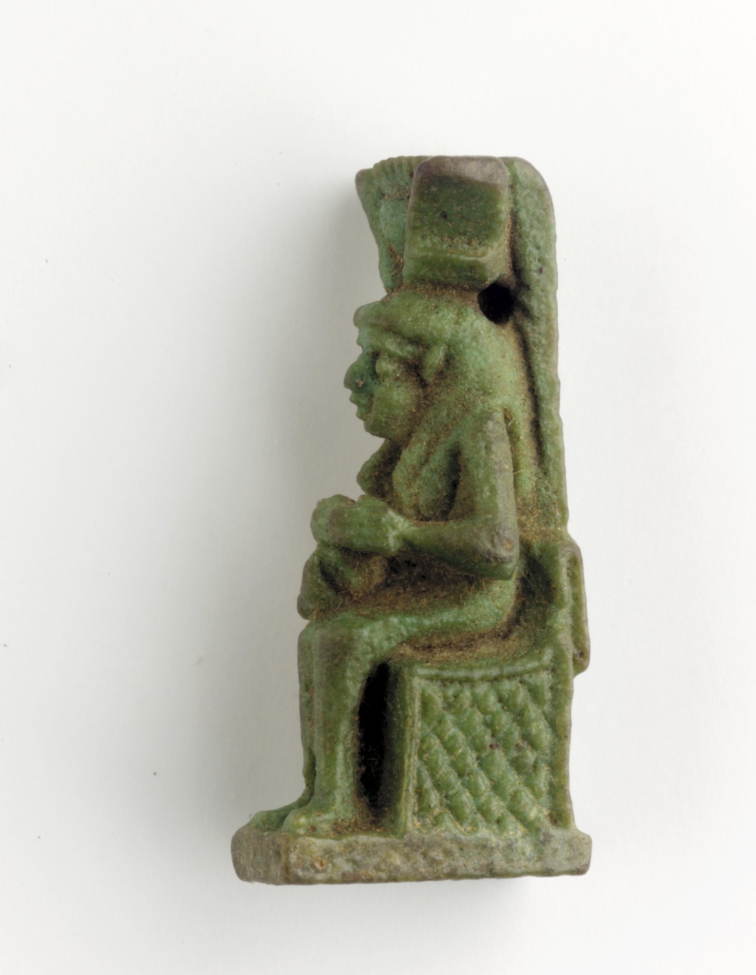 proper left: Amulet of Isis/Hathor and Horus
