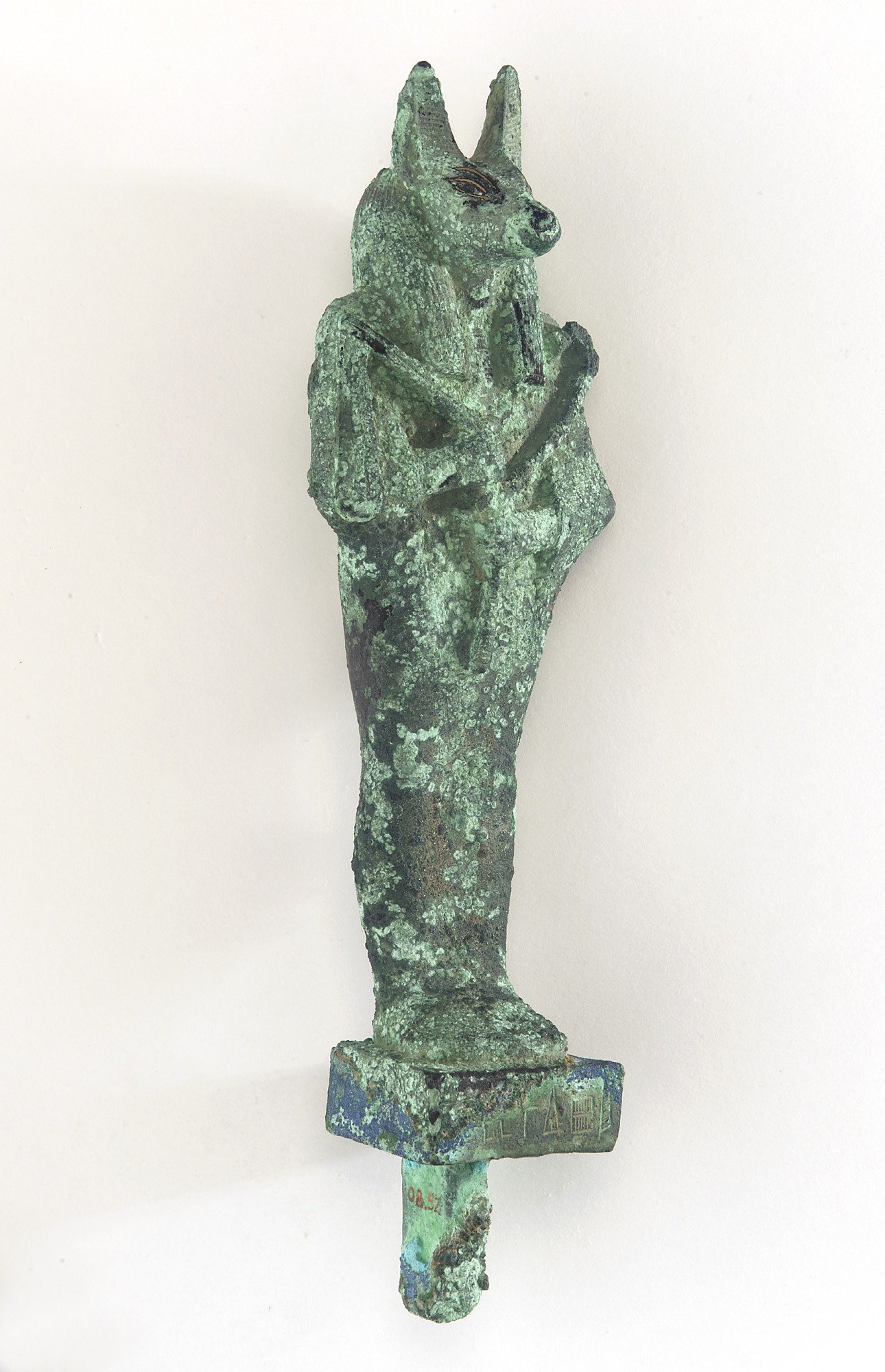 3/4 proper right: Statuette of Anubis