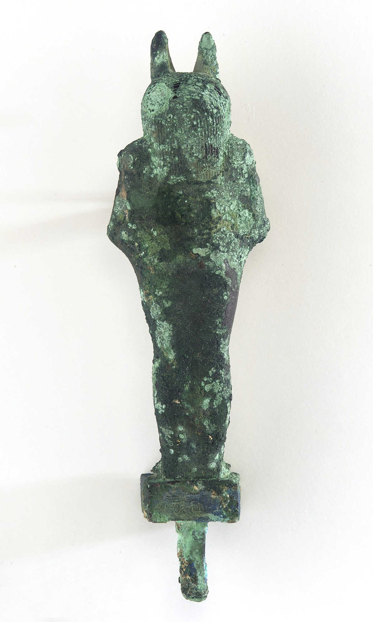 back: Statuette of Anubis