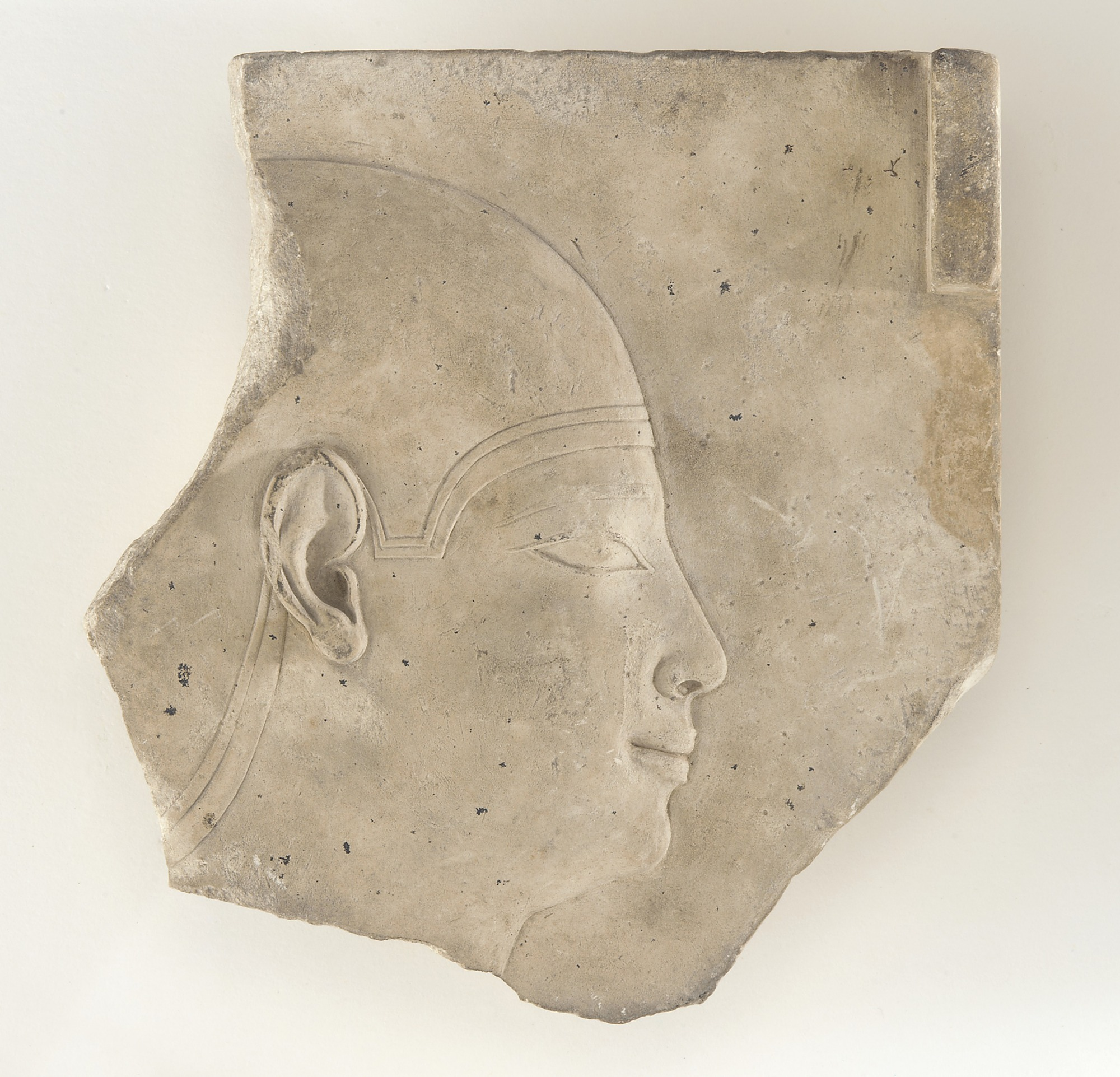 : Sculptor's model depicting male head