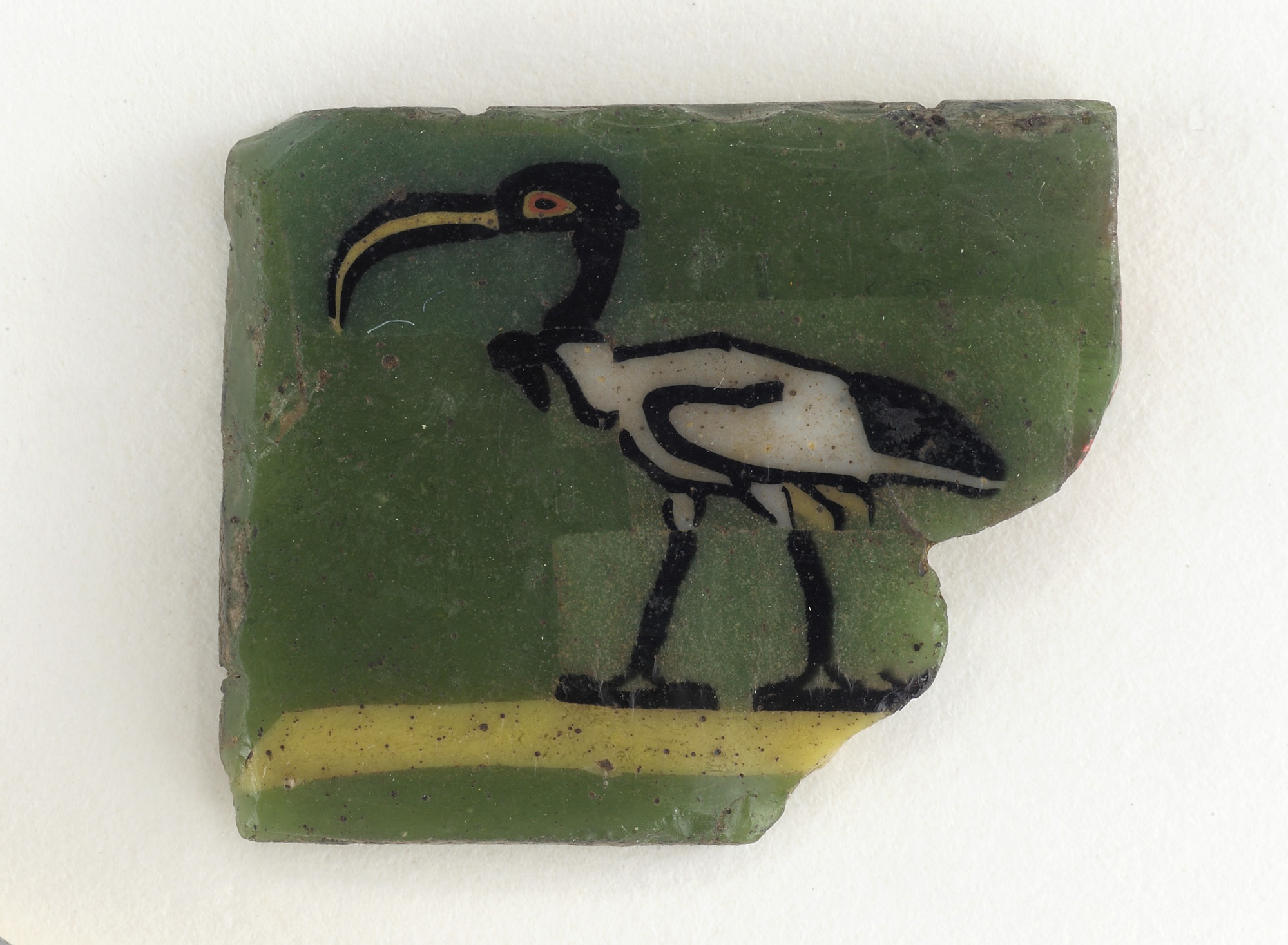 : Mosaic Plaque depicting an ibis