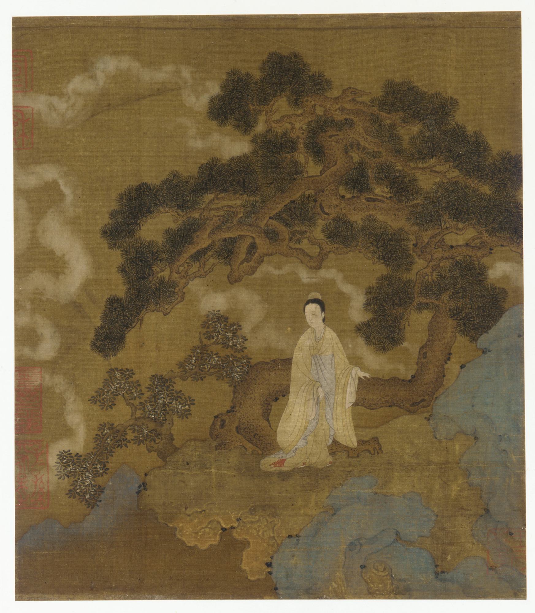 Lady Under a Gnarled Pine Tree