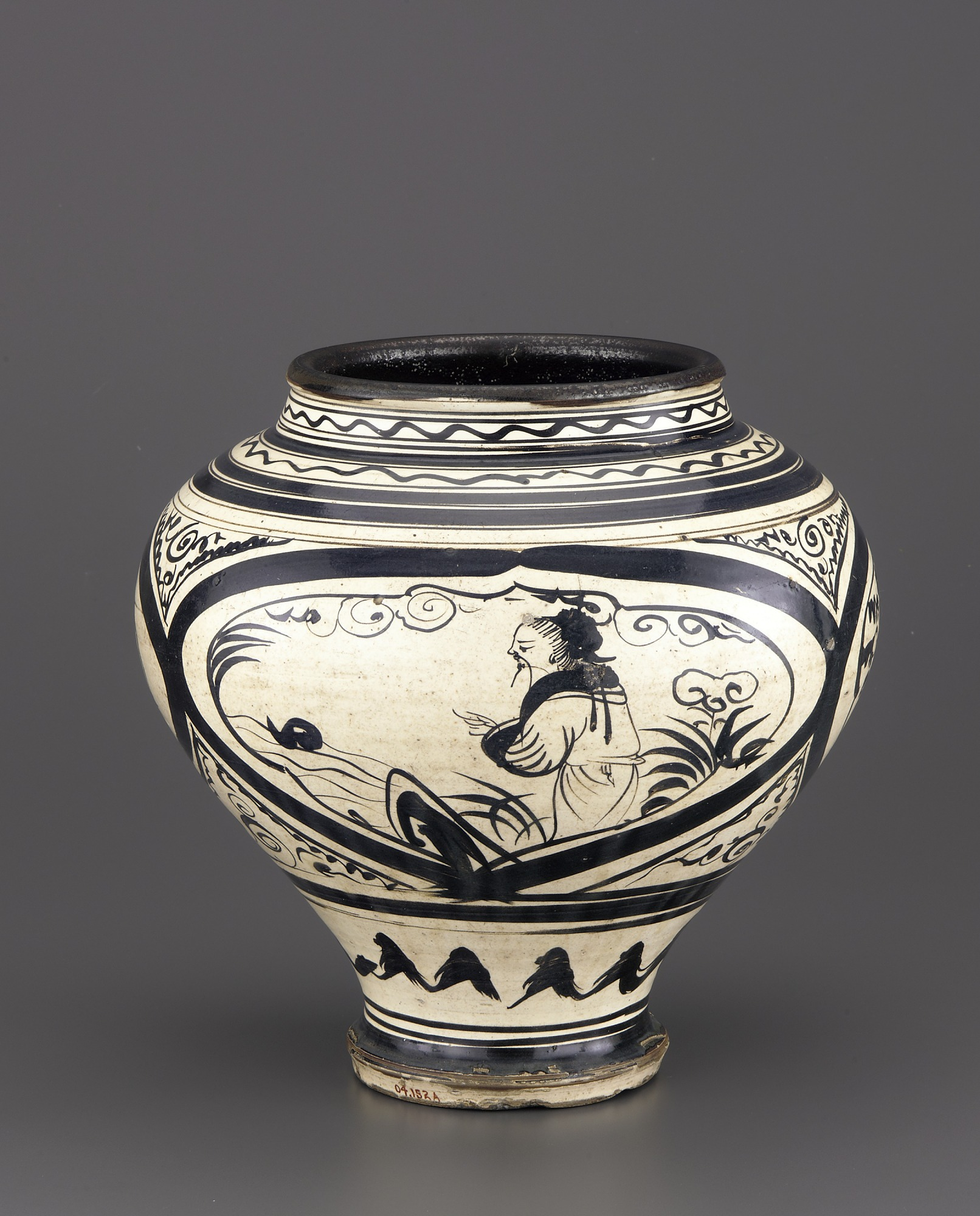 profile: Cizhou or Cizhou-type ware wine jar