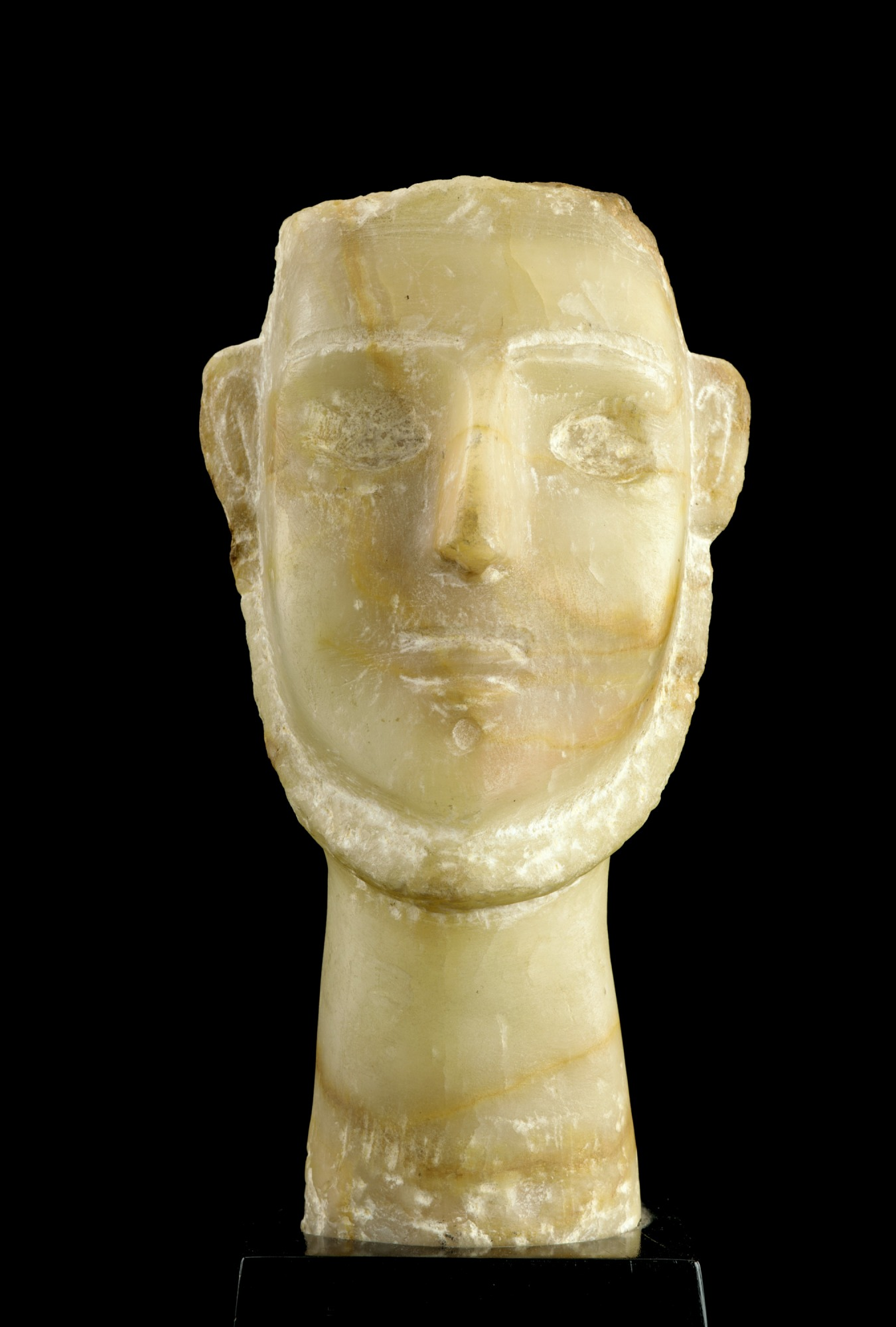 : Stele with man's head