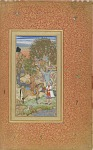 A Prince on Horseback Offering Wine to a Youth in a Tree House from the Gulshan Album