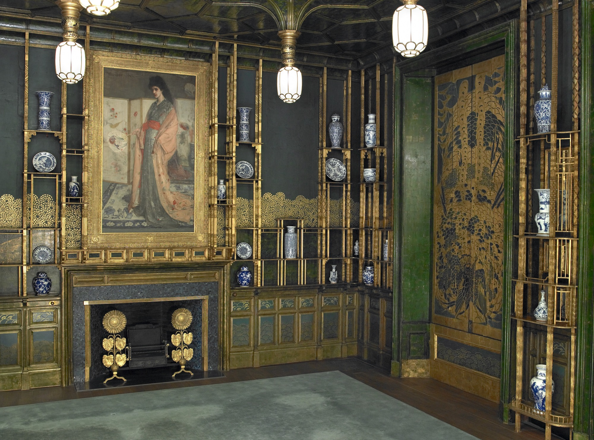 northeast corner: Harmony in Blue and Gold: The Peacock Room