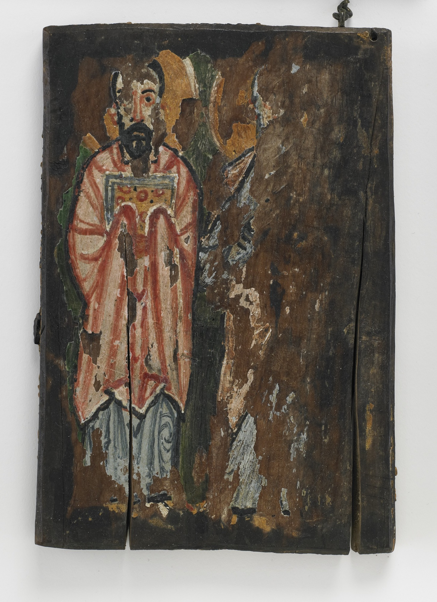 : St. Matthew and St. John; Left cover of The Washington Manuscript of the Gospels